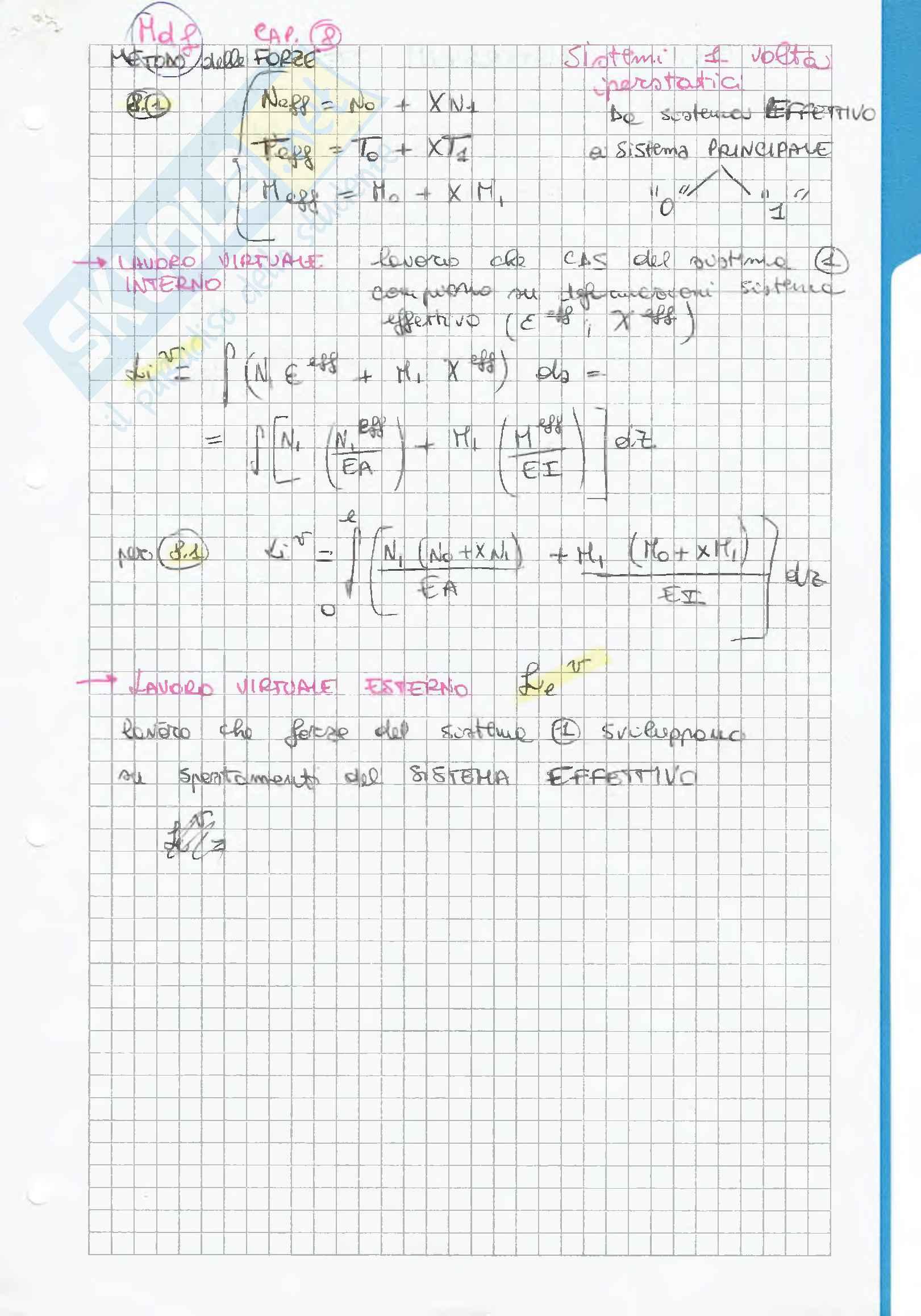 Riassunto esame Scienza delle costruzioni, prof. F. Vestroni, libro consigliato Scienza delle costruzioni, Casini, Vasta Pag. 26