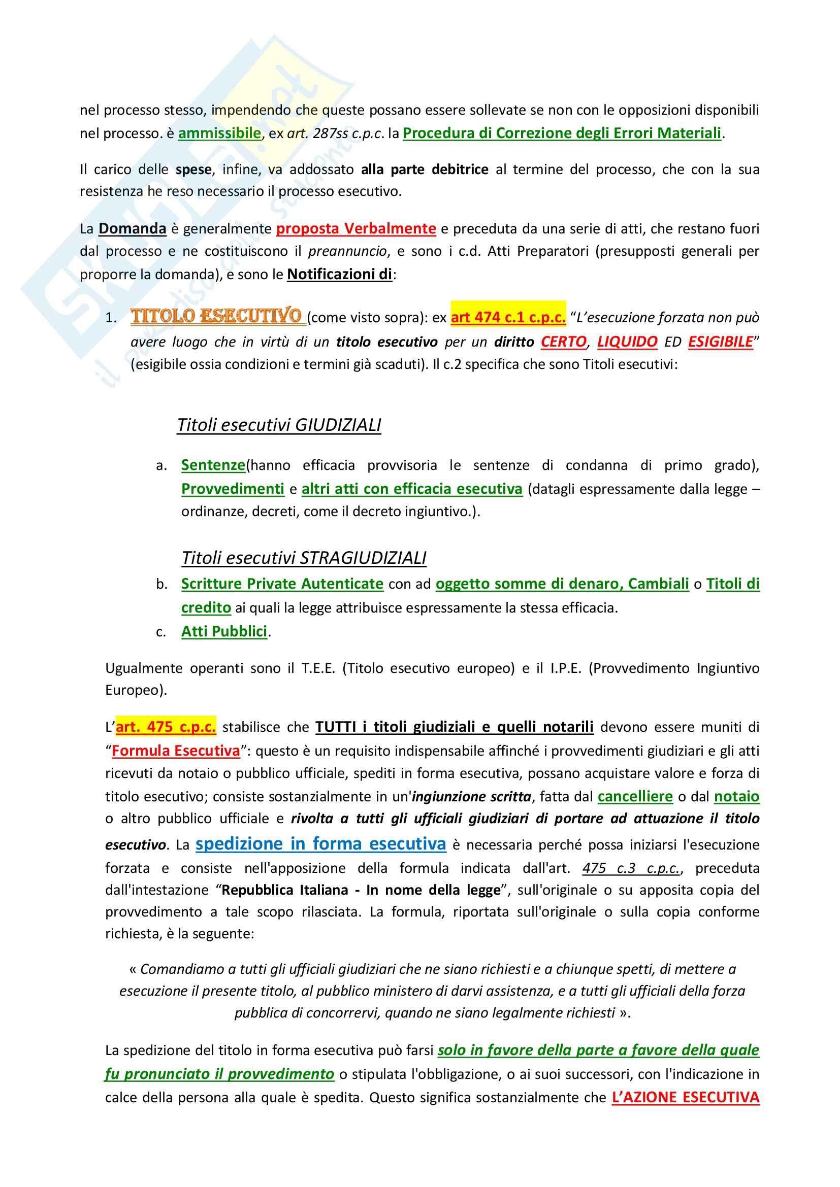 Lezioni, Diritto processuale civile II Pag. 26