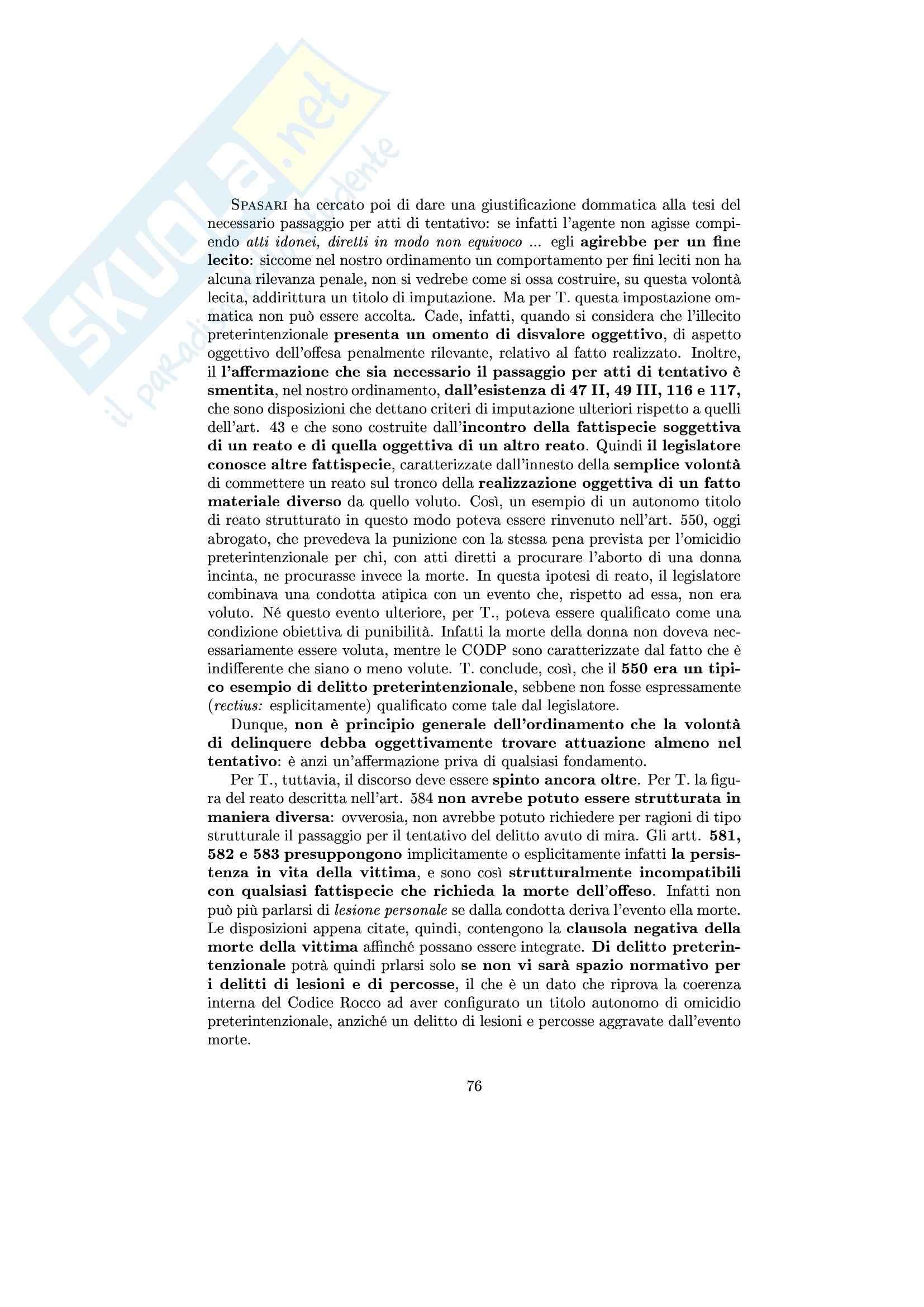 Diritto penale II - Riassunto esame, prof. Trapani Pag. 76