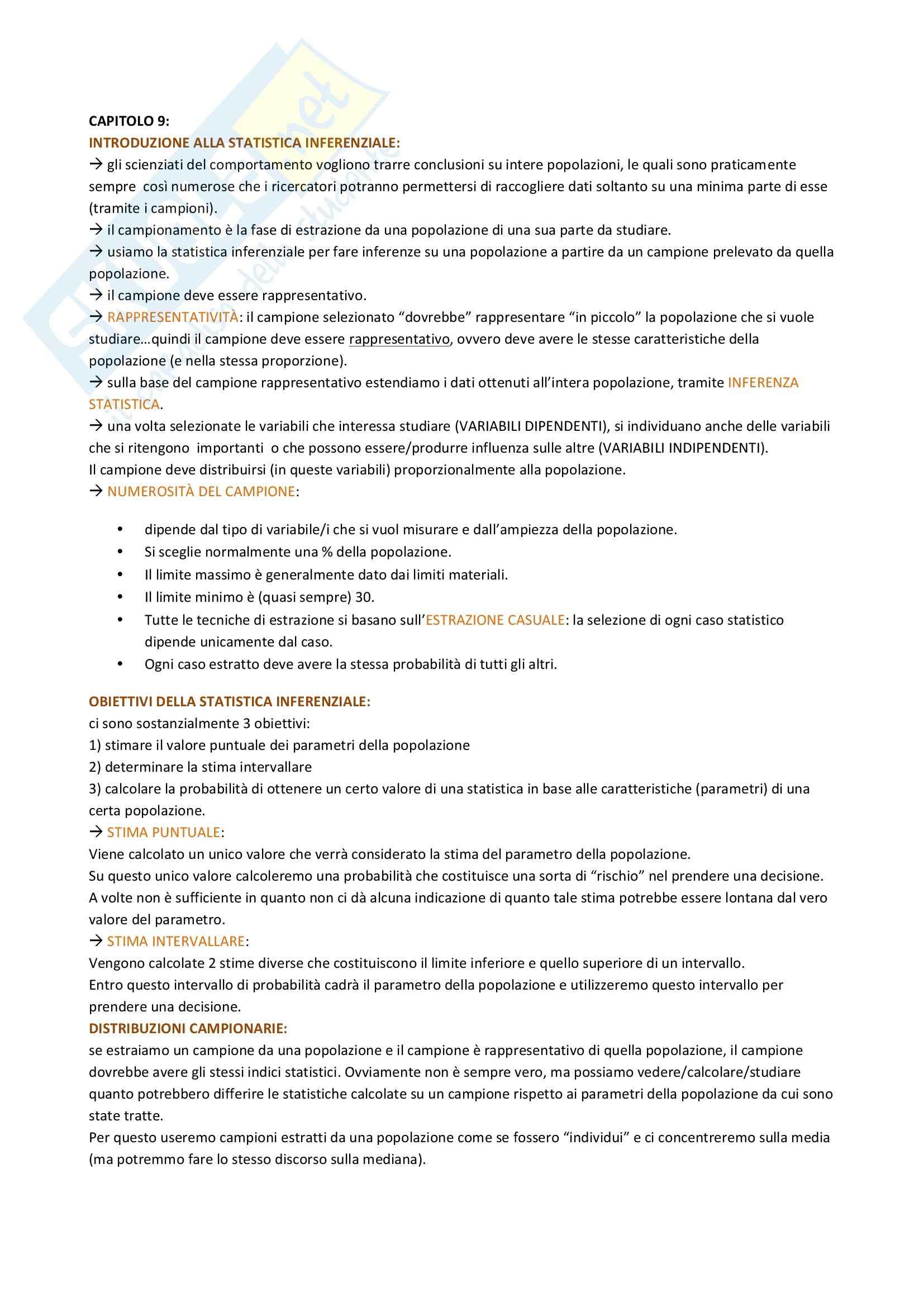 Riassunto esame Psicometria, prof. Rossi, libro consigliato Statistica per le scienze del comportamento, Welkowitz Pag. 26