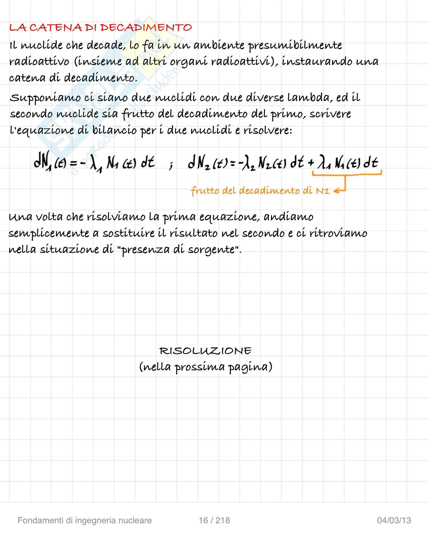 Lezioni ed esercitazioni: Appunti di Ingegneria nucleare Pag. 16