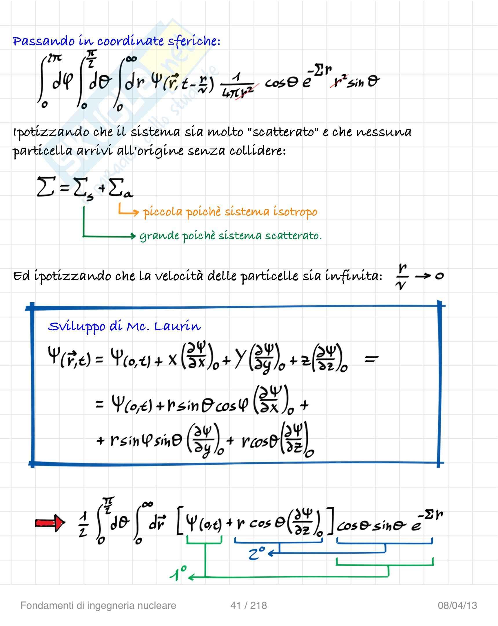Lezioni ed esercitazioni: Appunti di Ingegneria nucleare Pag. 41