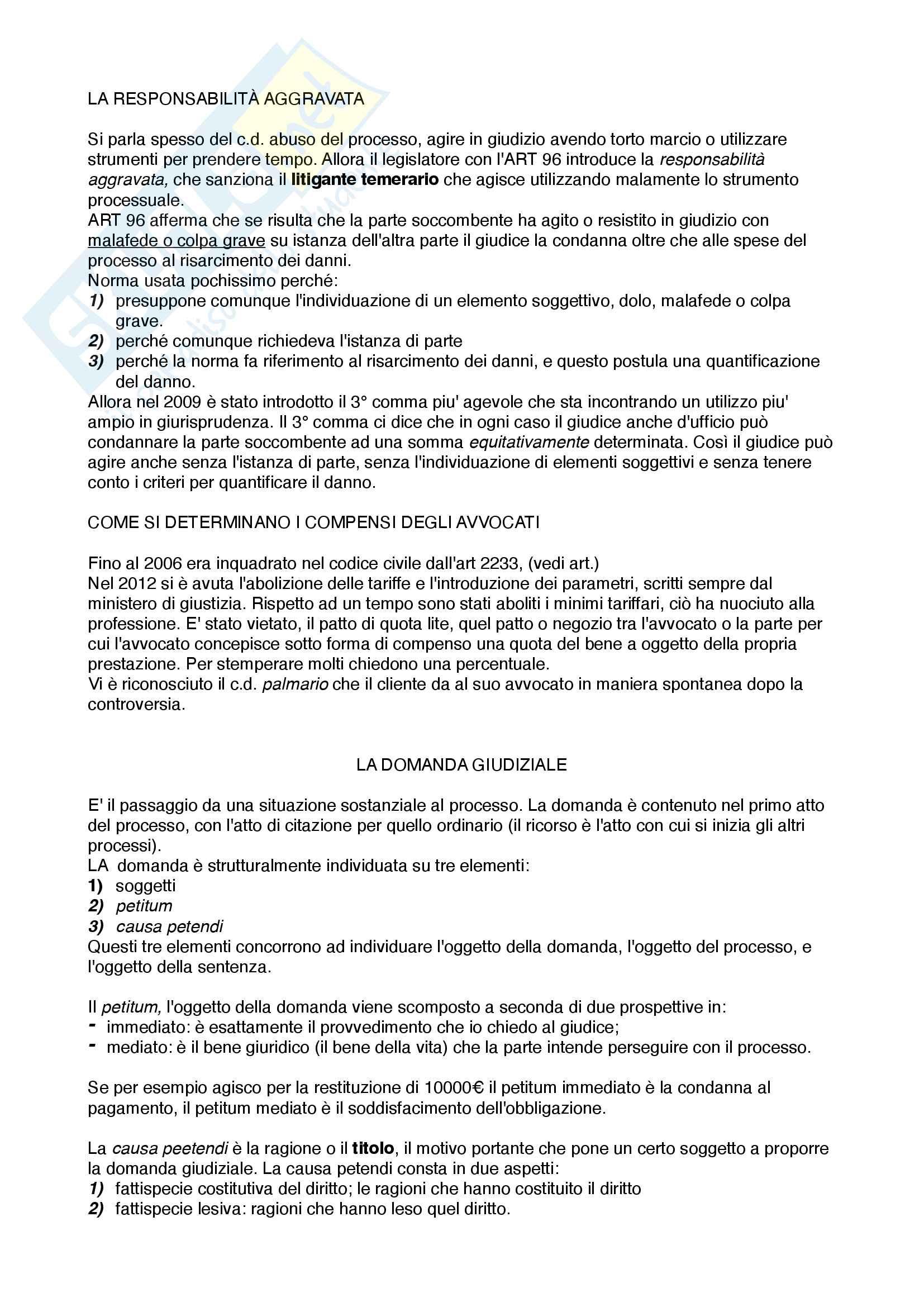 Diritto processuale civile (principi) Pag. 26