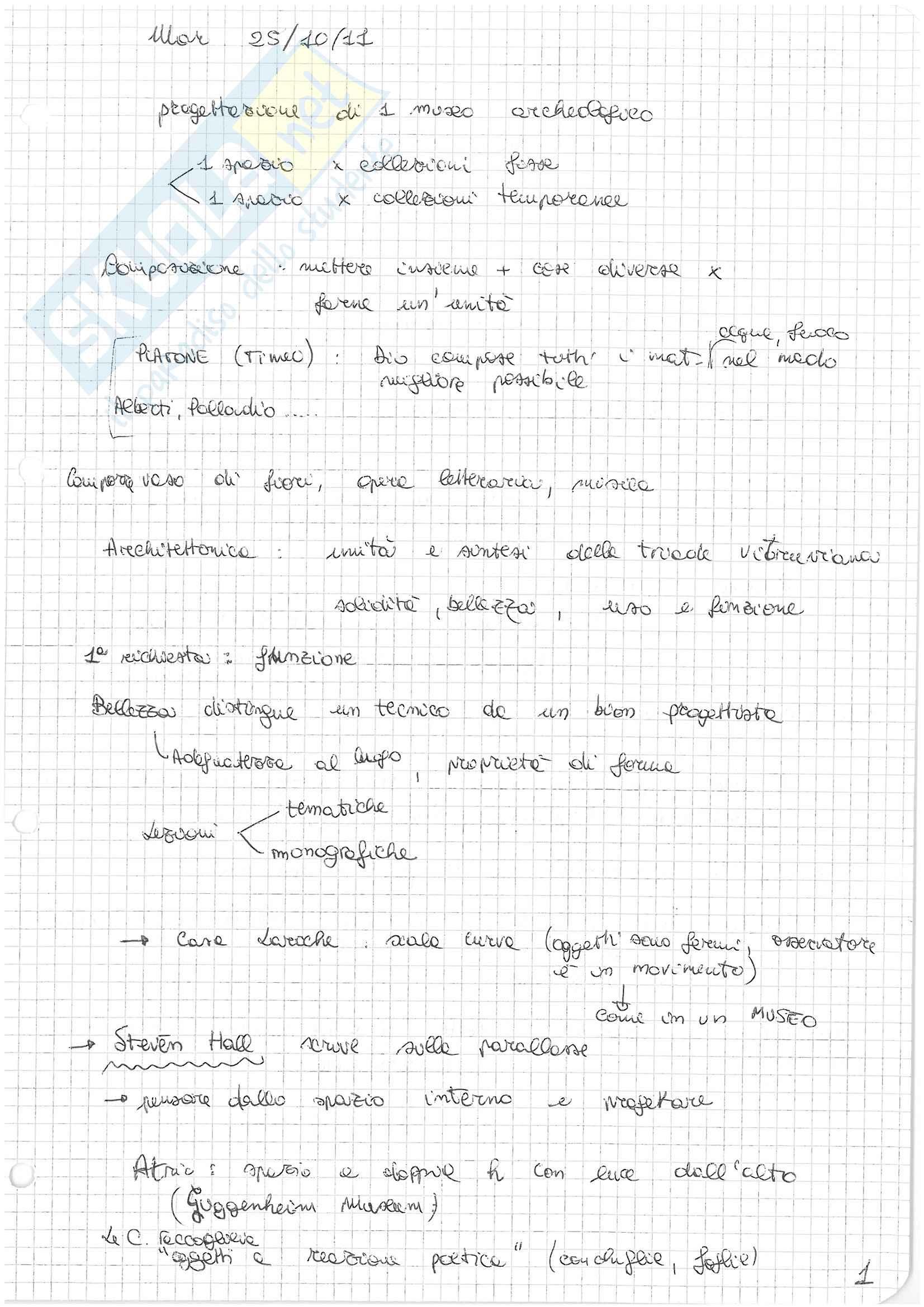 (1/2) Appunti presi a lezione di Architettura e Composizione Architettonica 2 con laboratorio progettuale, Docente: Maria Argenti