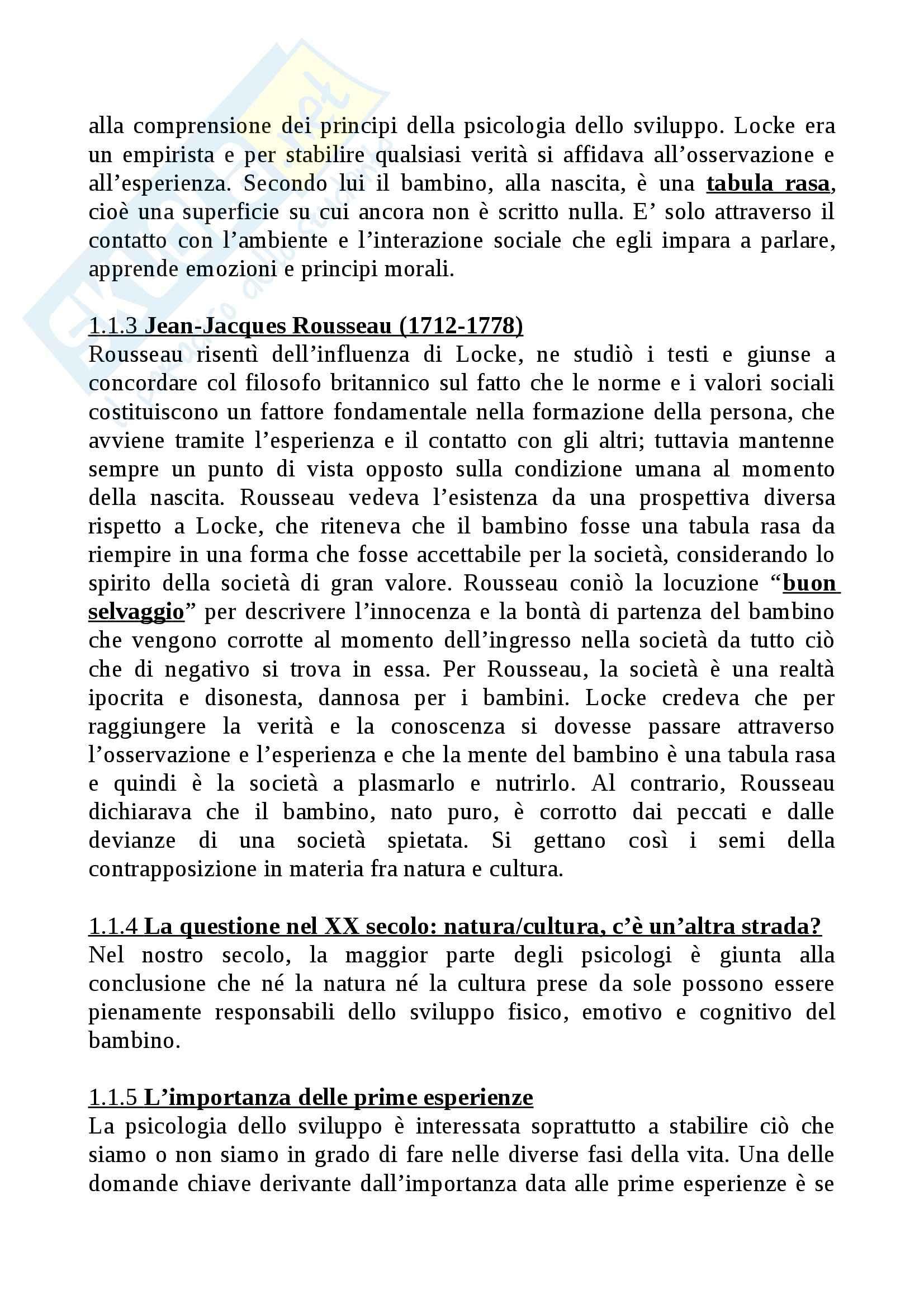 Riassunto esame Psicologia dello sviluppo, prof. Larcan, libro consigliato Psicologia dello sviluppo, Gillibrand, Lam, O'Donnell, Tallandini Pag. 2