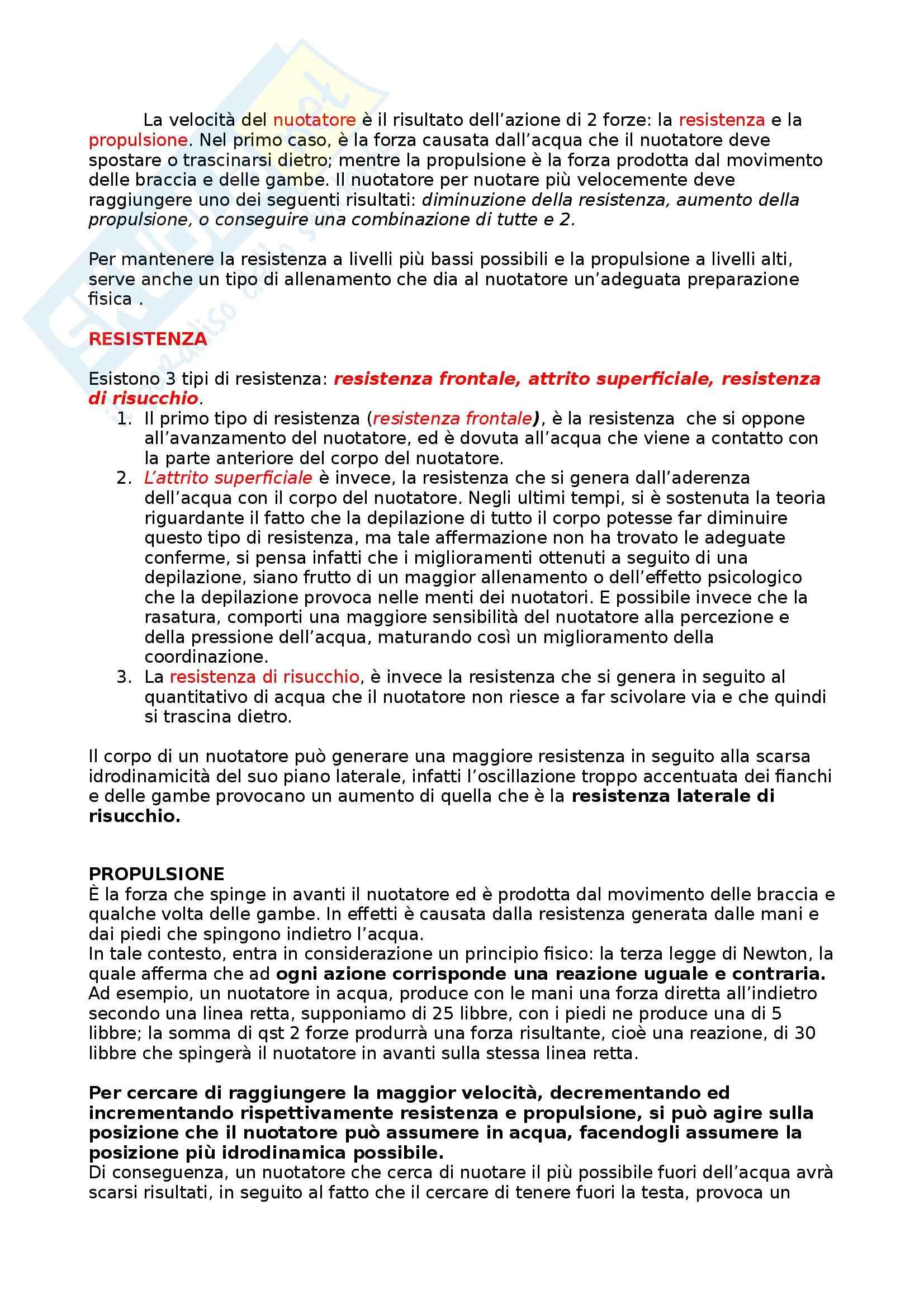Riassunto esame Teoria, Tecnica e Didattica dell'Attività Natatoria, prof. Bovi, libro consigliato La Scienza del Nuoto, Counsilman