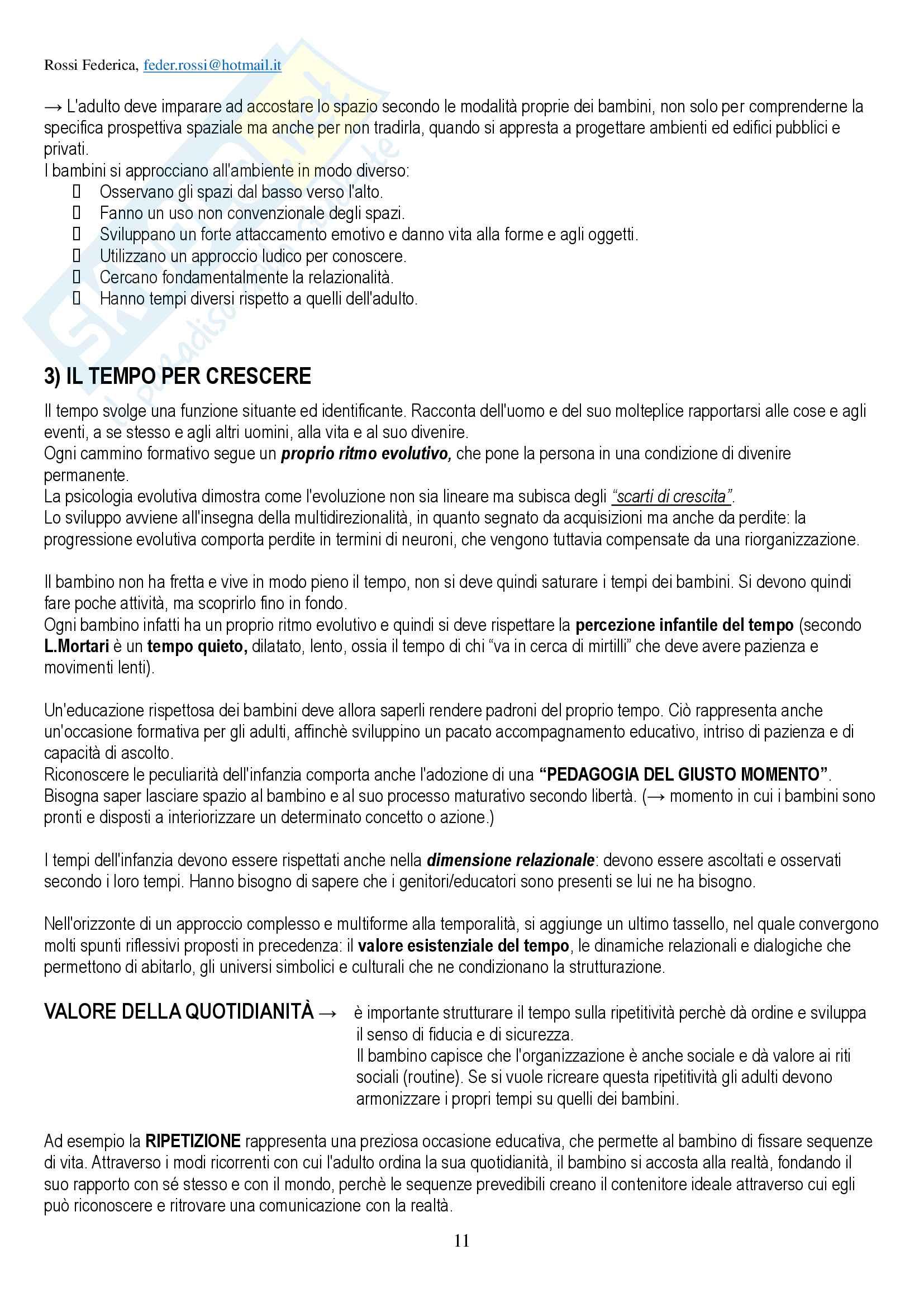 """Riassunto per esame di Pedagogia della persona, prof Amadini, libro consigliato """"Infanzia e famiglia"""", Amadini Pag. 11"""