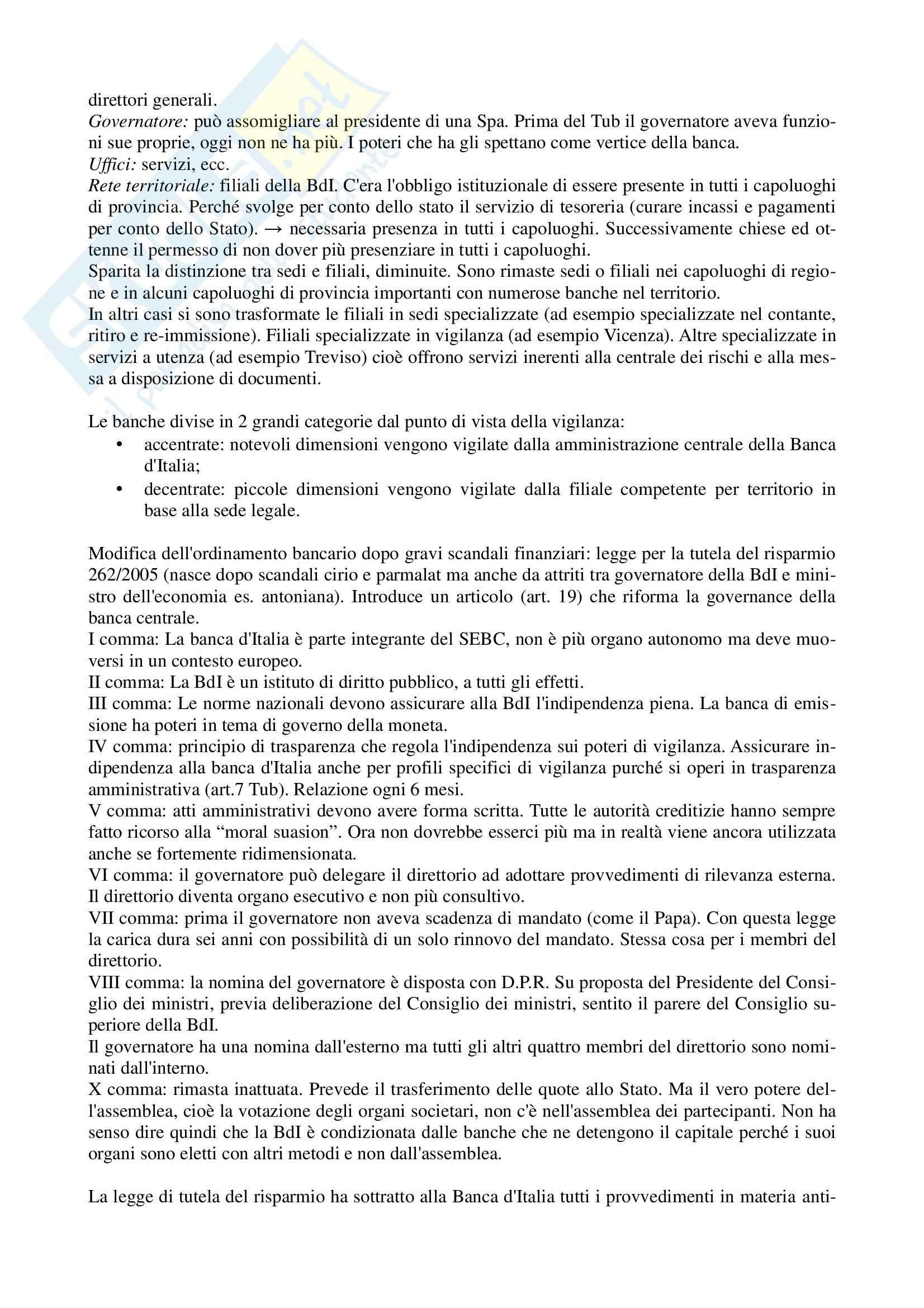 Legislazione bancaria 1 - appunti parte I Pag. 6