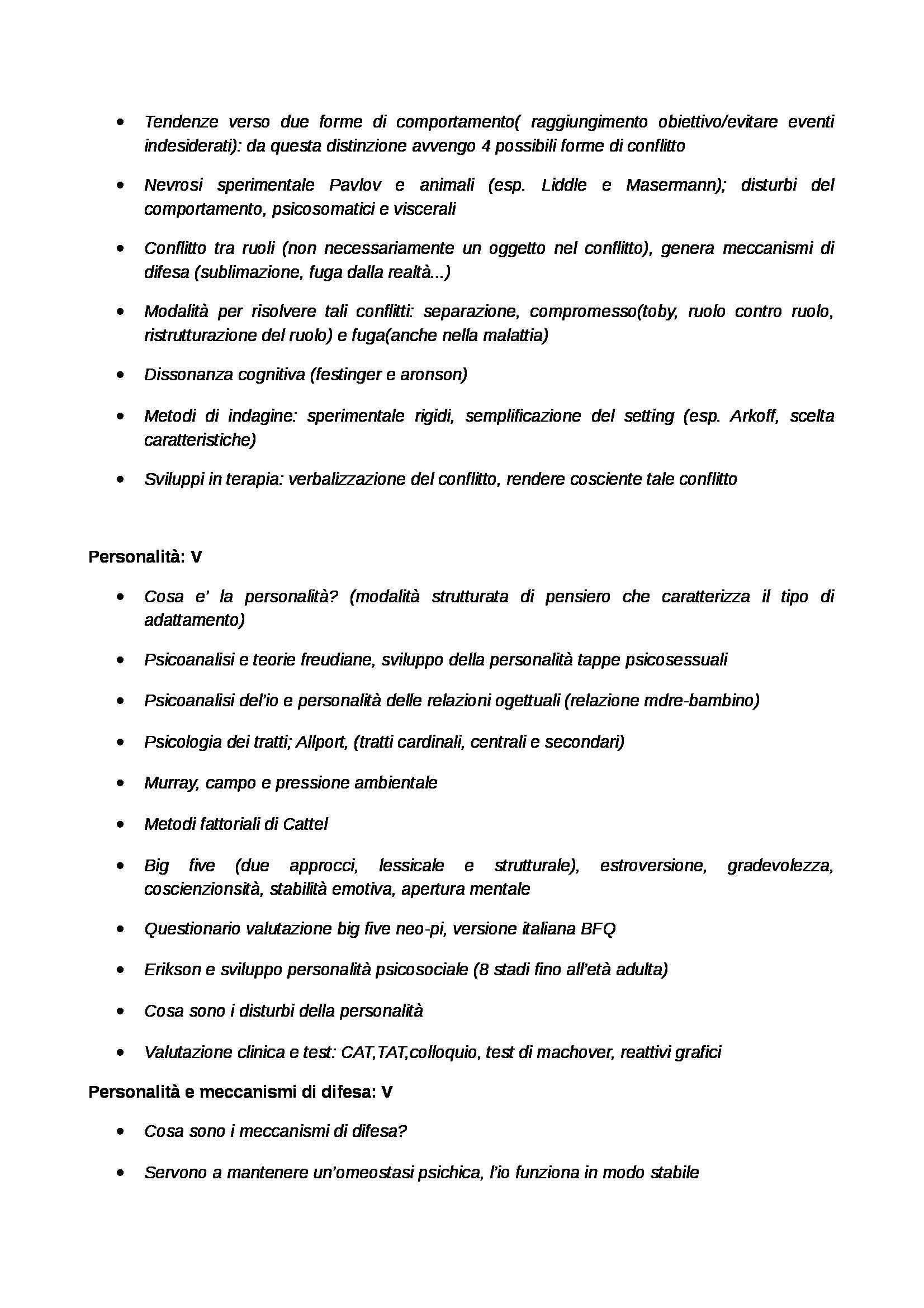 Psicologia generale - schemi Pag. 6