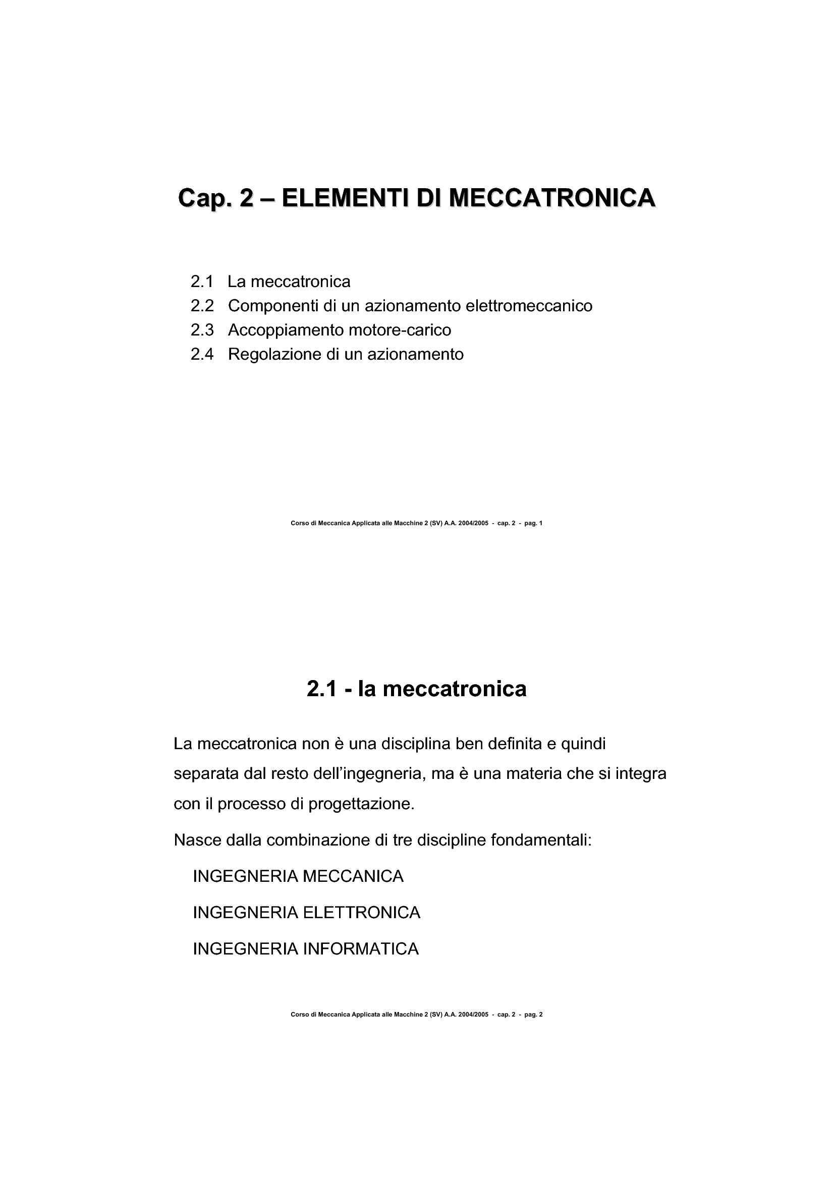 Maccanotronica - Elementi