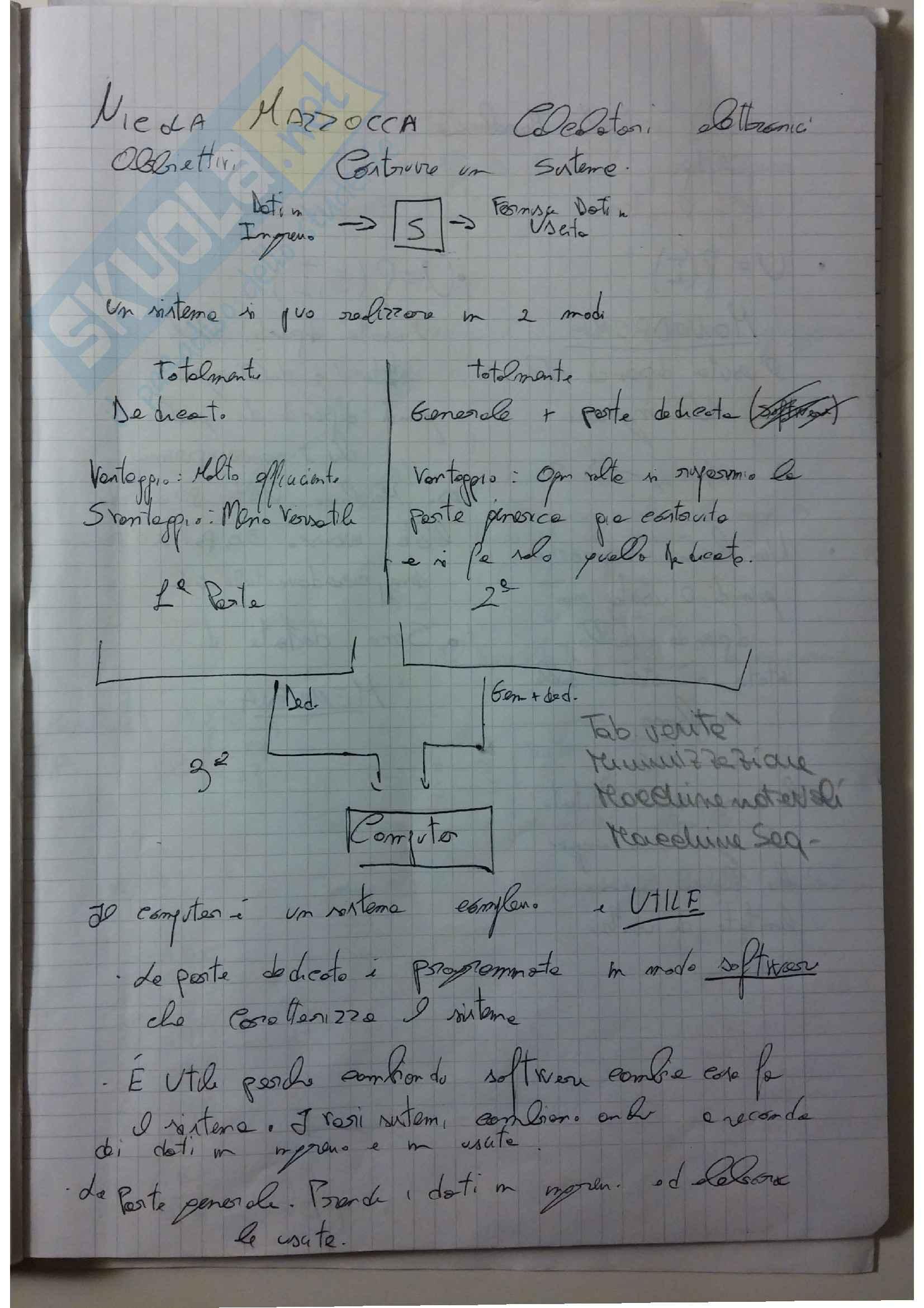 appunto N. Mazzocca Calcolatori elettronici I