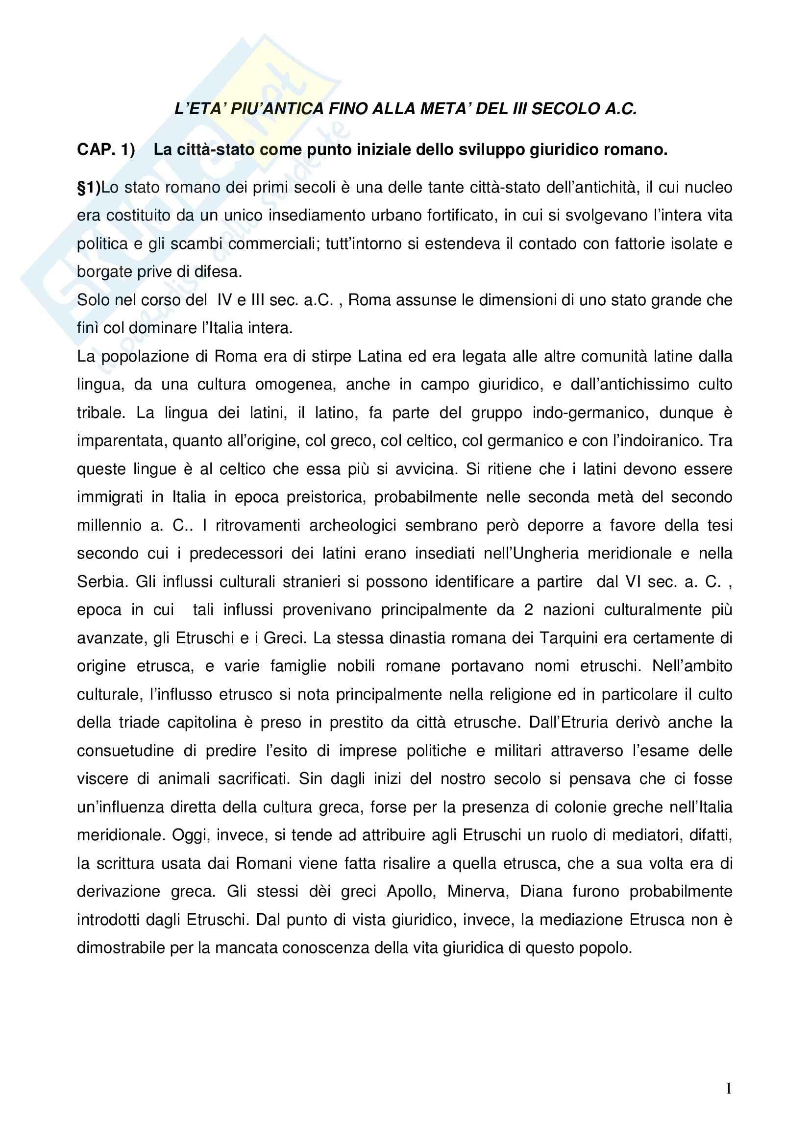 Riassunto esame Istituzioni di Diritto Romano, prof. Nasti, libro consigliato Linee di Storia Giuridica Romana, Kunkel