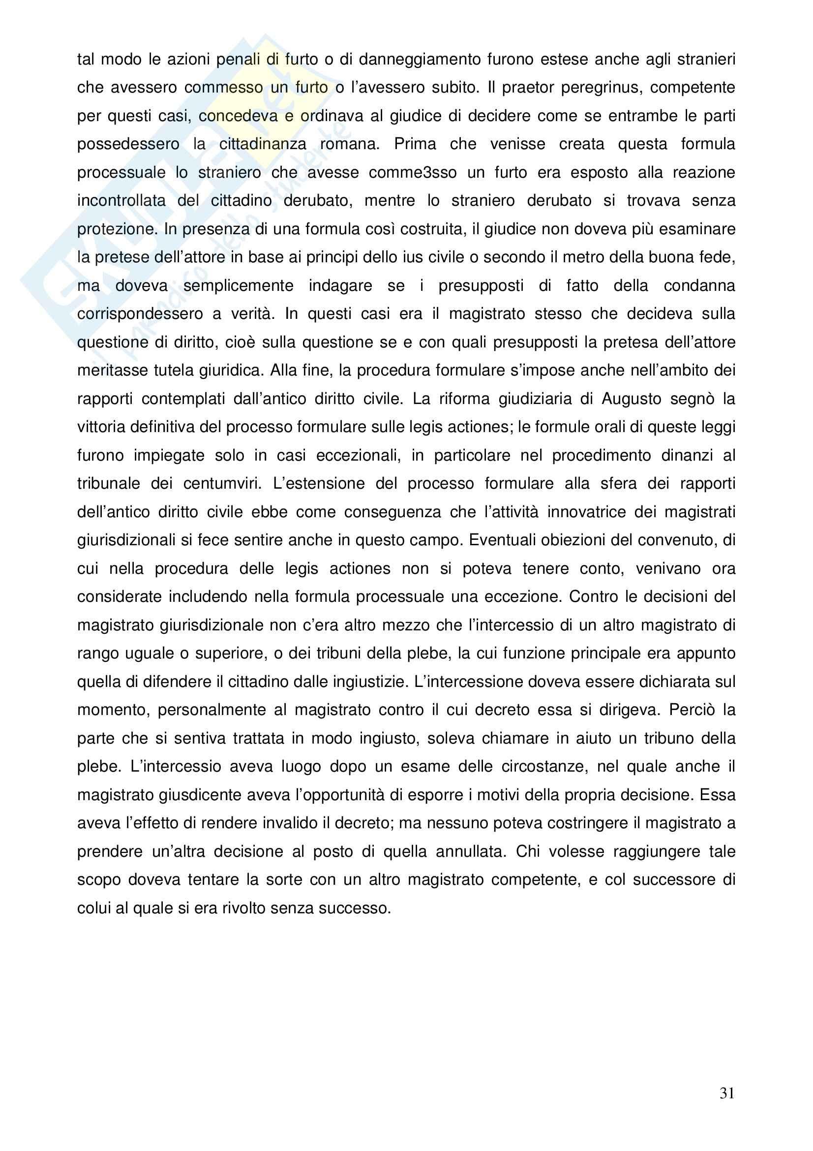 Riassunto esame Istituzioni di Diritto Romano, prof. Nasti, libro consigliato Linee di Storia Giuridica Romana, Kunkel Pag. 31
