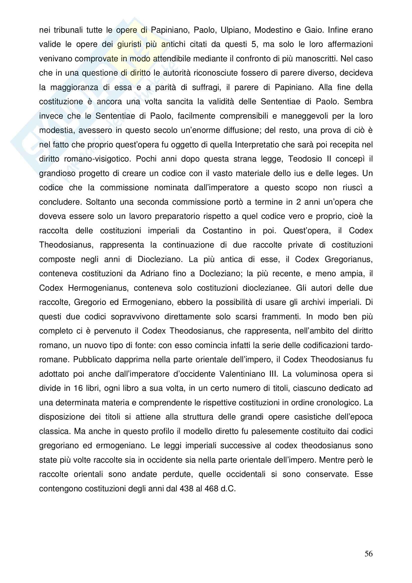 Riassunto esame Istituzioni di Diritto Romano, prof. Nasti, libro consigliato Linee di Storia Giuridica Romana, Kunkel Pag. 56