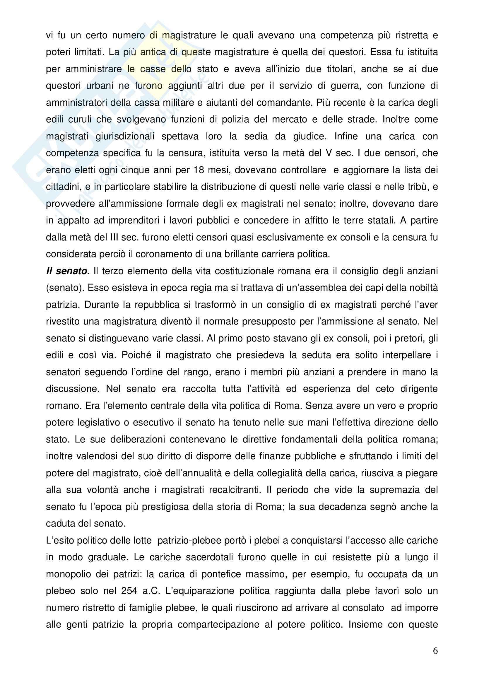 Riassunto esame Istituzioni di Diritto Romano, prof. Nasti, libro consigliato Linee di Storia Giuridica Romana, Kunkel Pag. 6