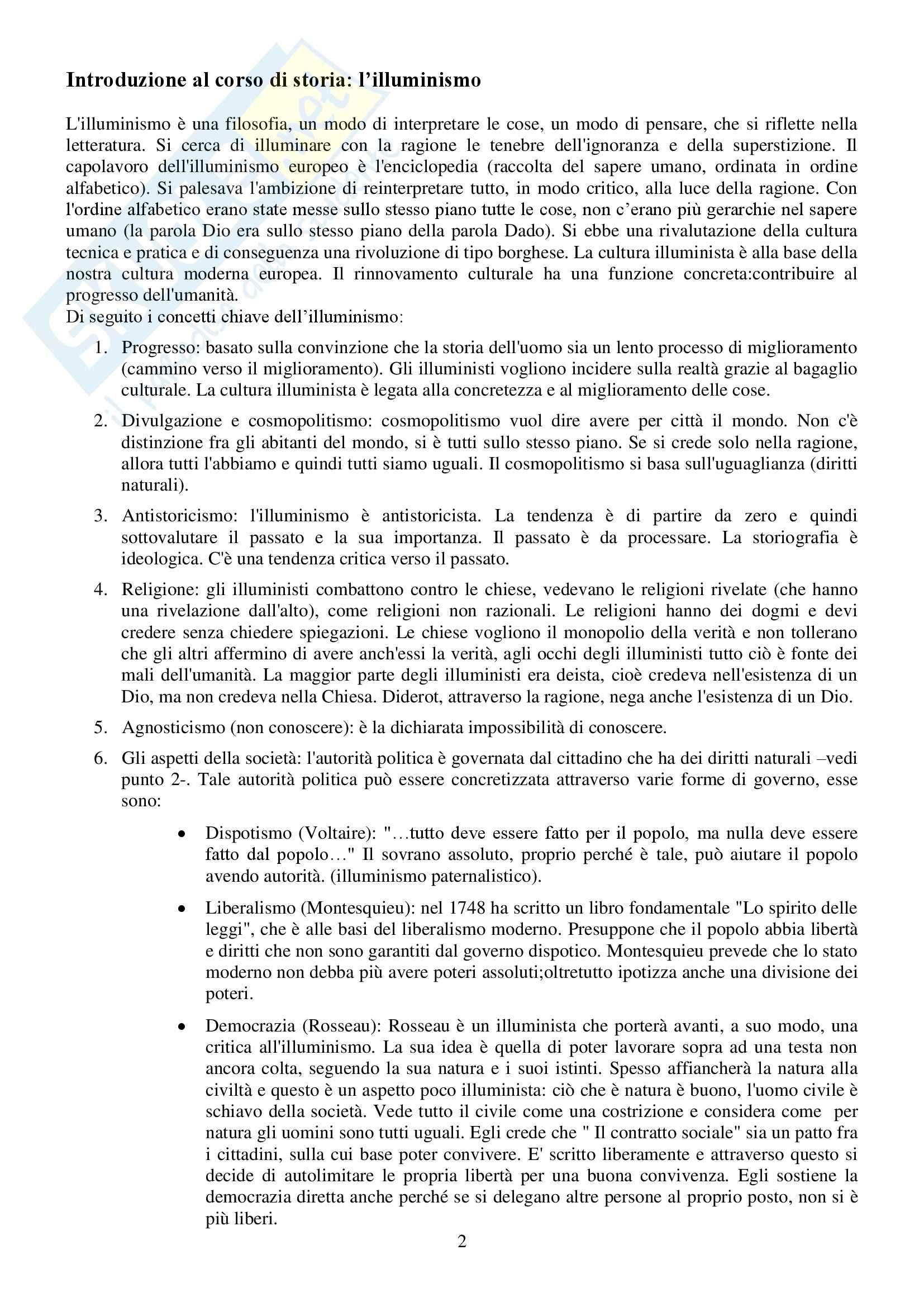 Riassunto esame Storia Contemporanea, prof. Conti, libro consigliato Ottocento e Novecento, Sabbattucci, Vidotto