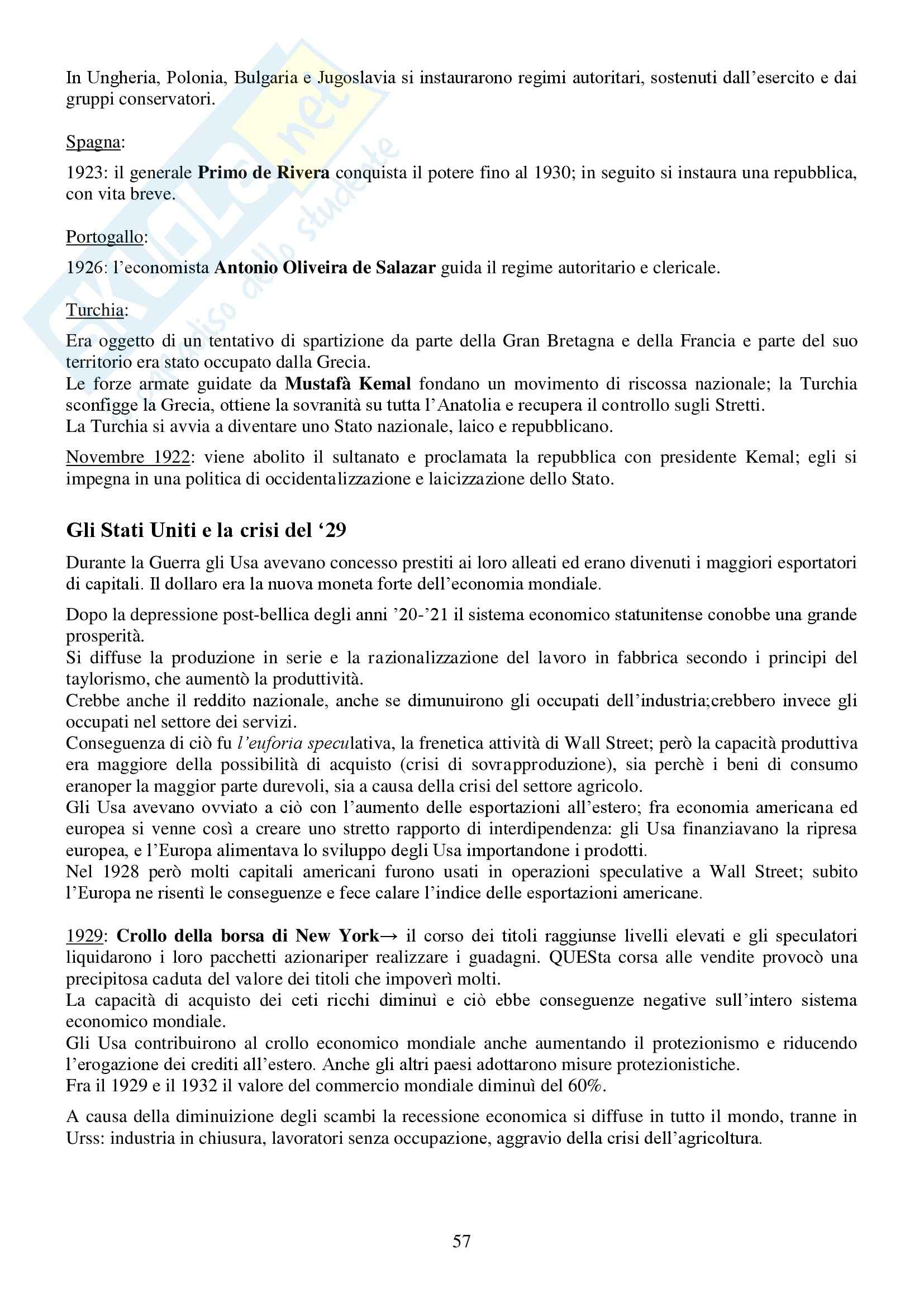 Riassunto esame Storia Contemporanea, prof. Conti, libro consigliato Ottocento e Novecento, Sabbattucci, Vidotto Pag. 56