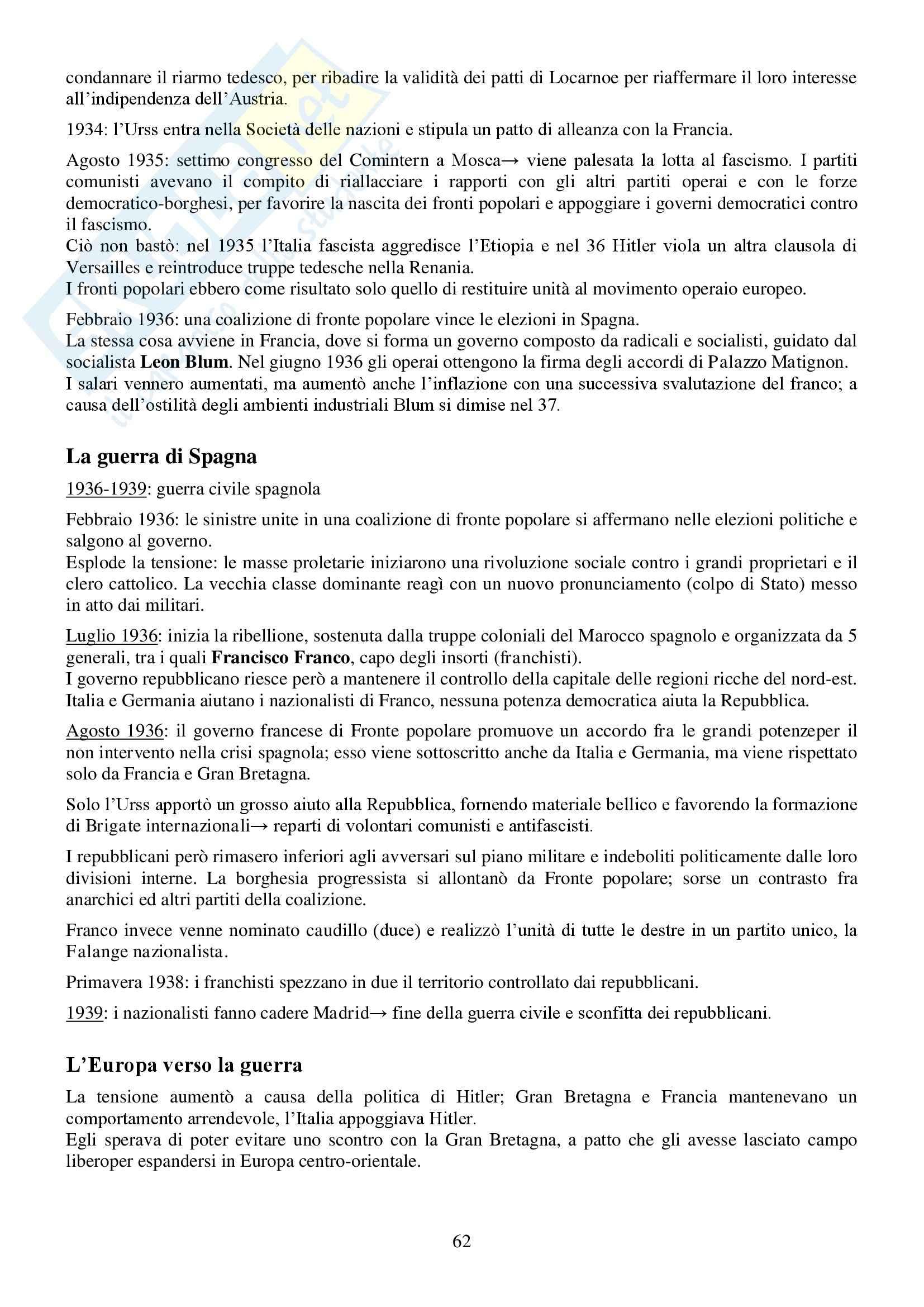 Riassunto esame Storia Contemporanea, prof. Conti, libro consigliato Ottocento e Novecento, Sabbattucci, Vidotto Pag. 61