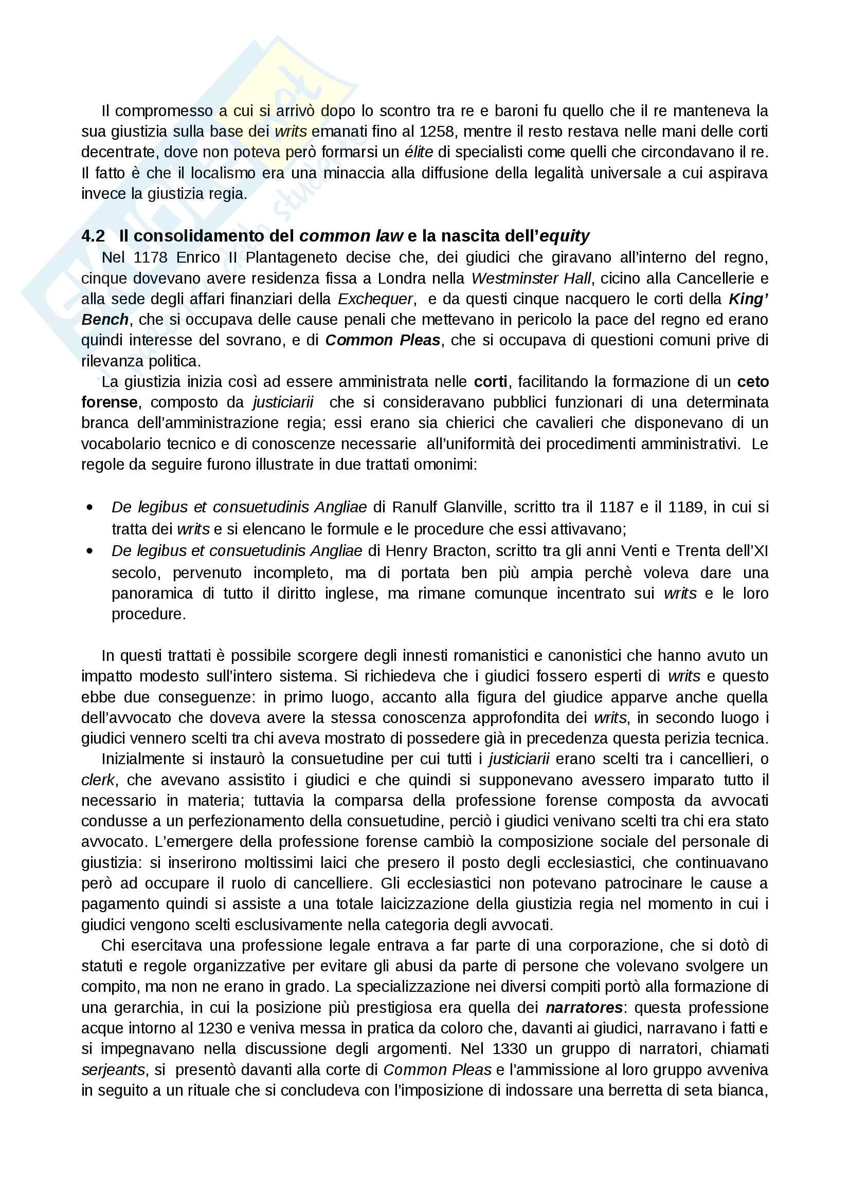 Riassunto esame Sistemi Giuridici Comparati, Prof. Pier Filippo Giuggioli, Libro Consigliato Sistemi Giuridici Comparati Pag. 11