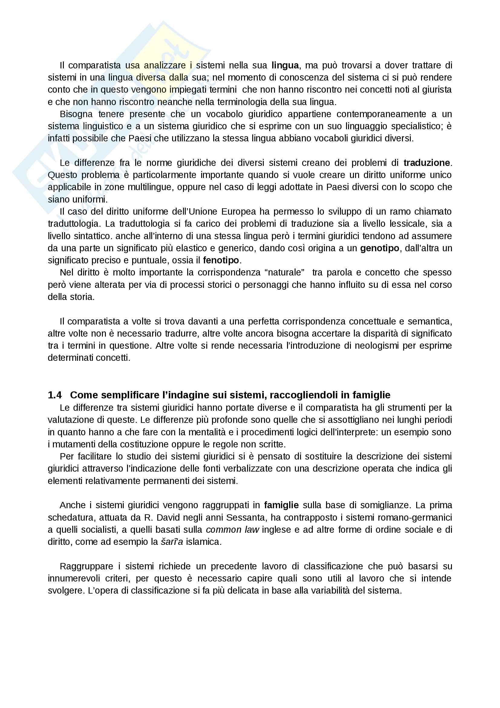 Riassunto esame Sistemi Giuridici Comparati, Prof. Pier Filippo Giuggioli, Libro Consigliato Sistemi Giuridici Comparati Pag. 2