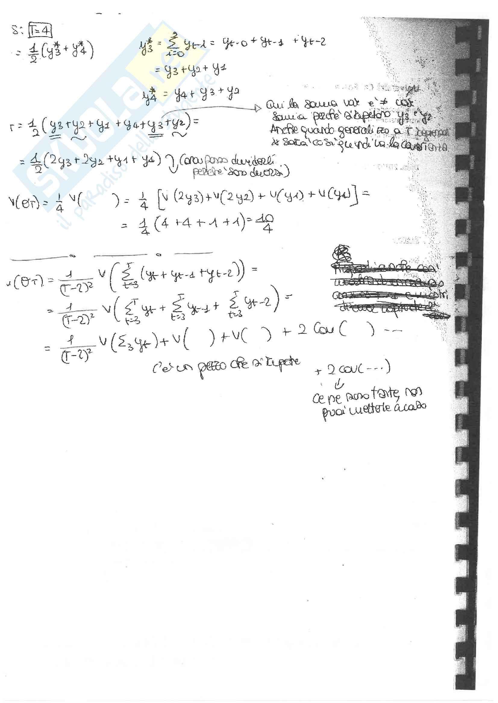 Esami di econometria con soluzione, prof. Casarin Pag. 6