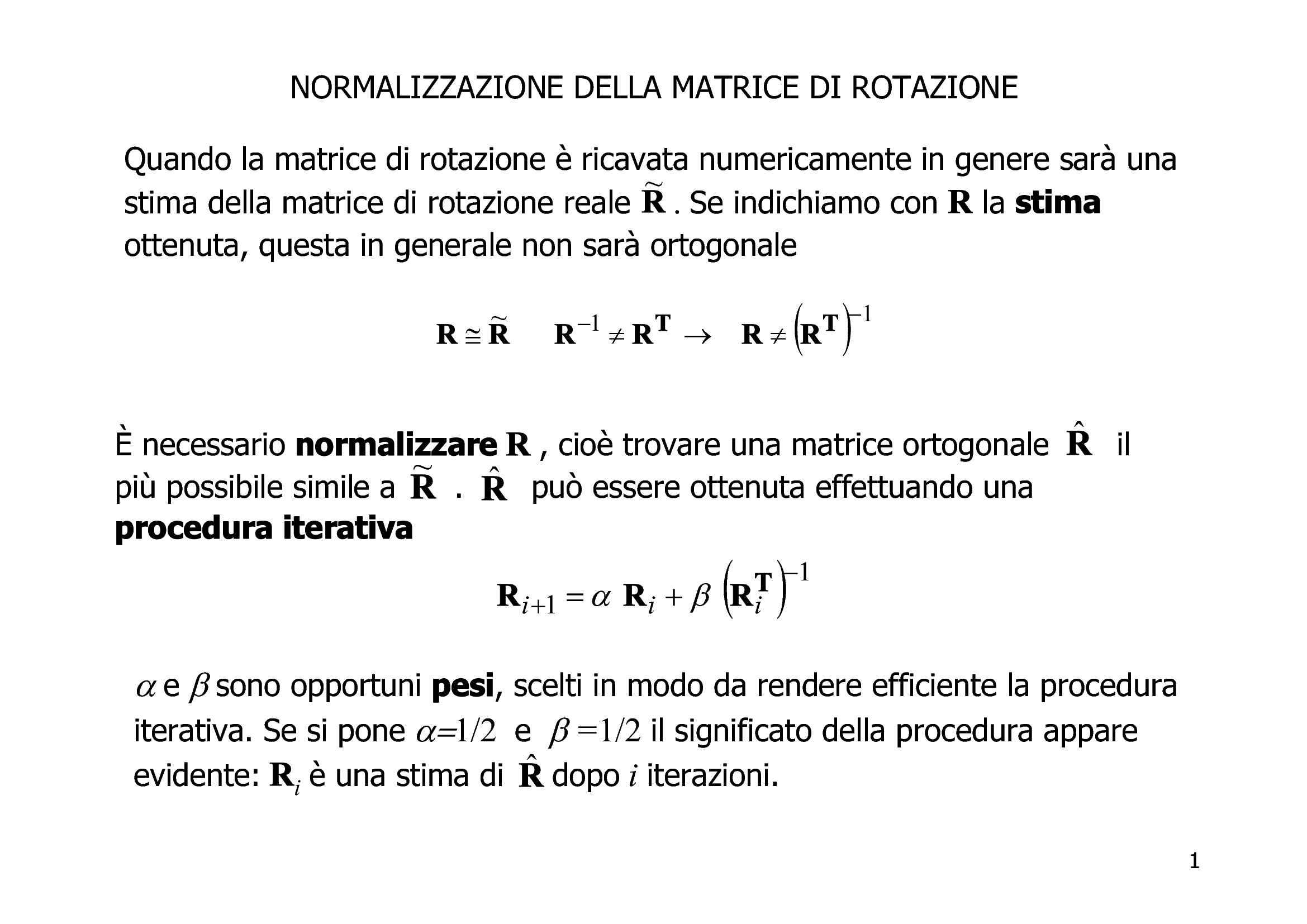 Cinematica - Calcolo vettoriale e matriciale