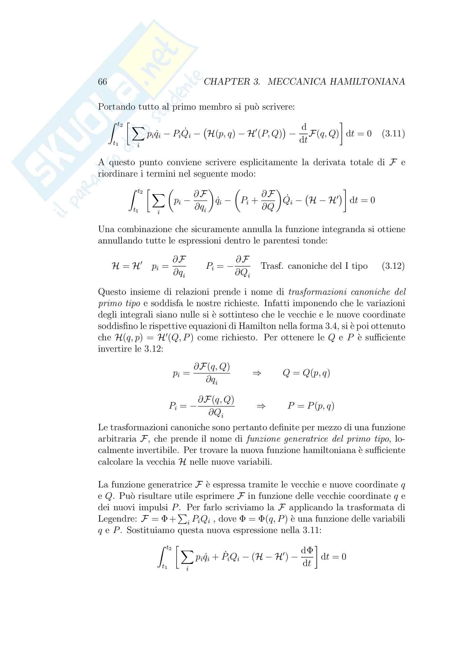 Meccanica Analitica Pag. 66