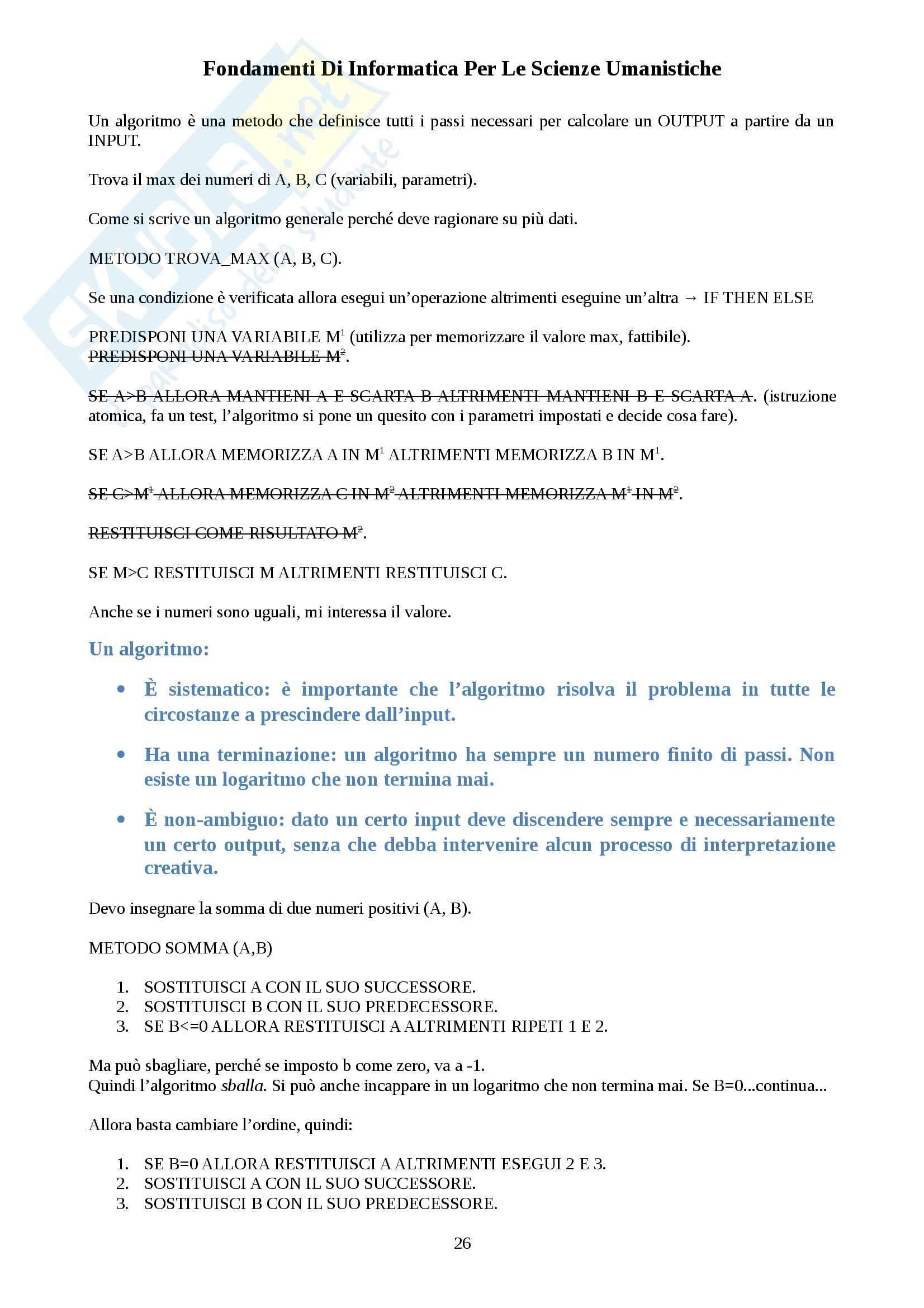 Fondamenti di Informatica per Le Scienze Umanistiche - Appunti Pag. 26