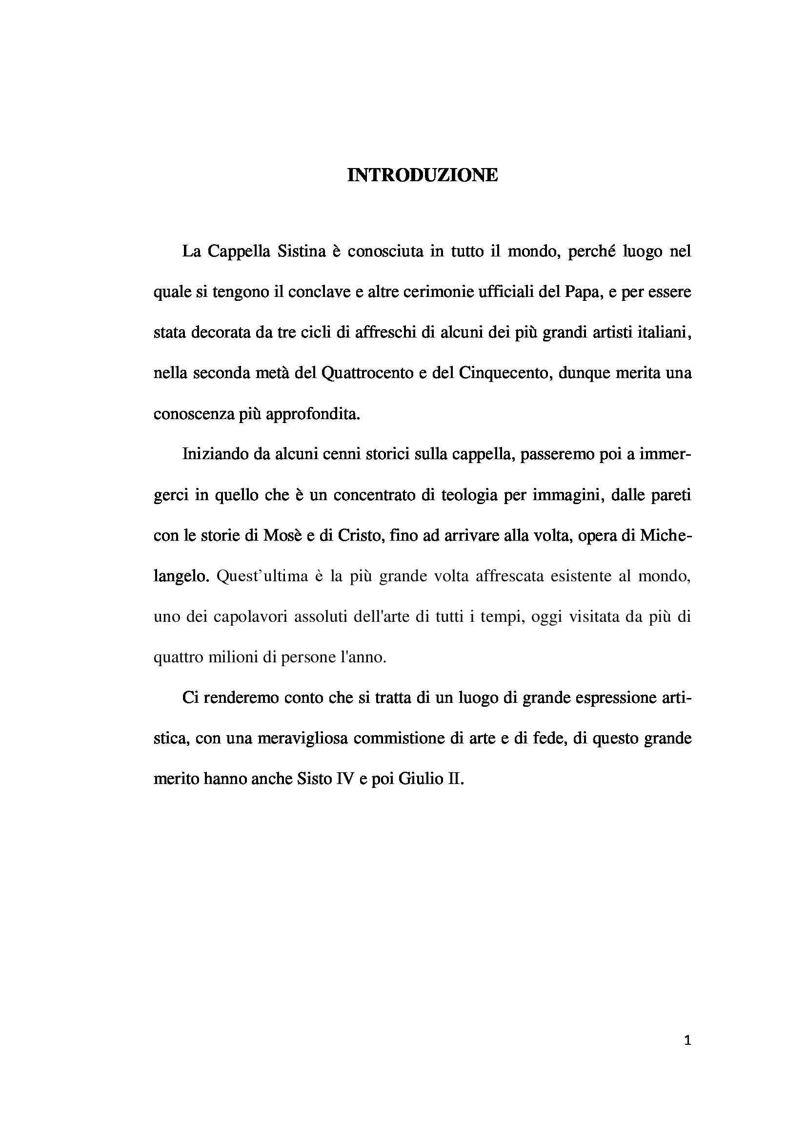 Tesi - Cappella Sistina Pag. 1