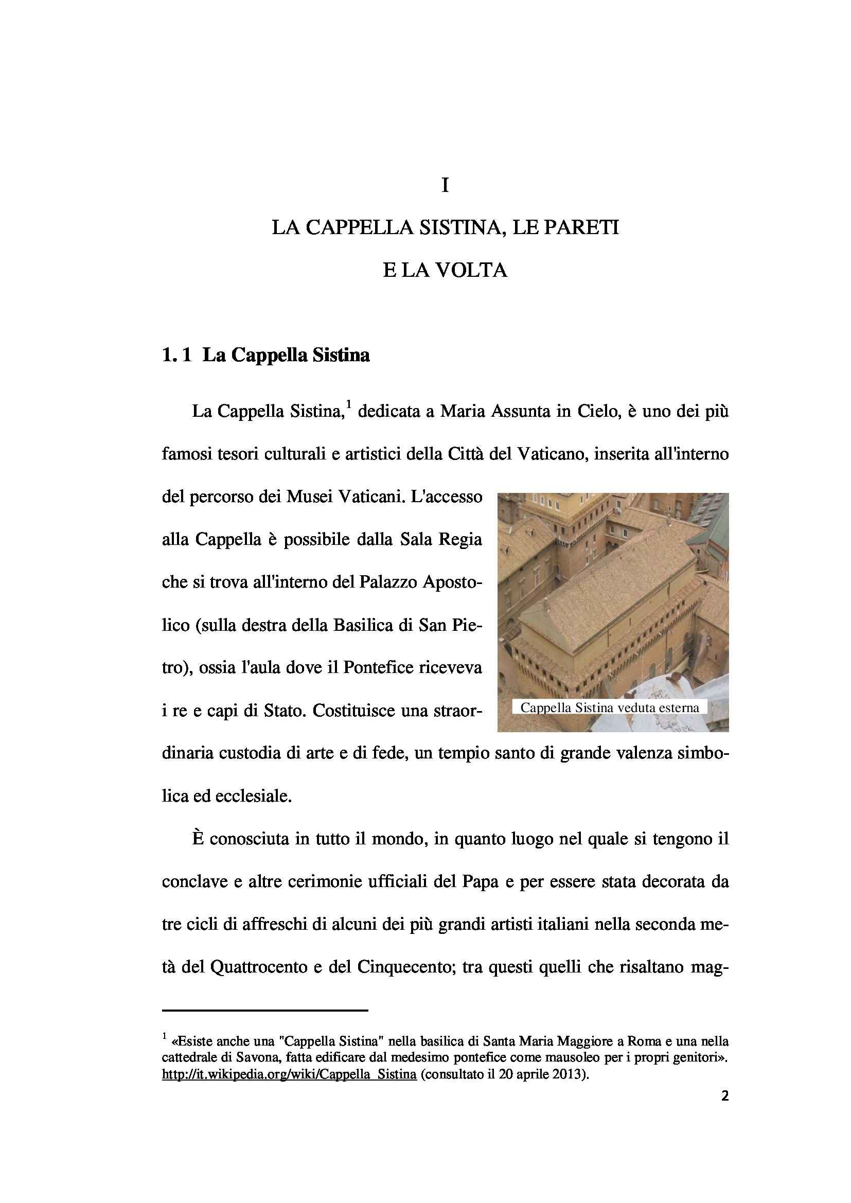 Tesi - Cappella Sistina Pag. 2
