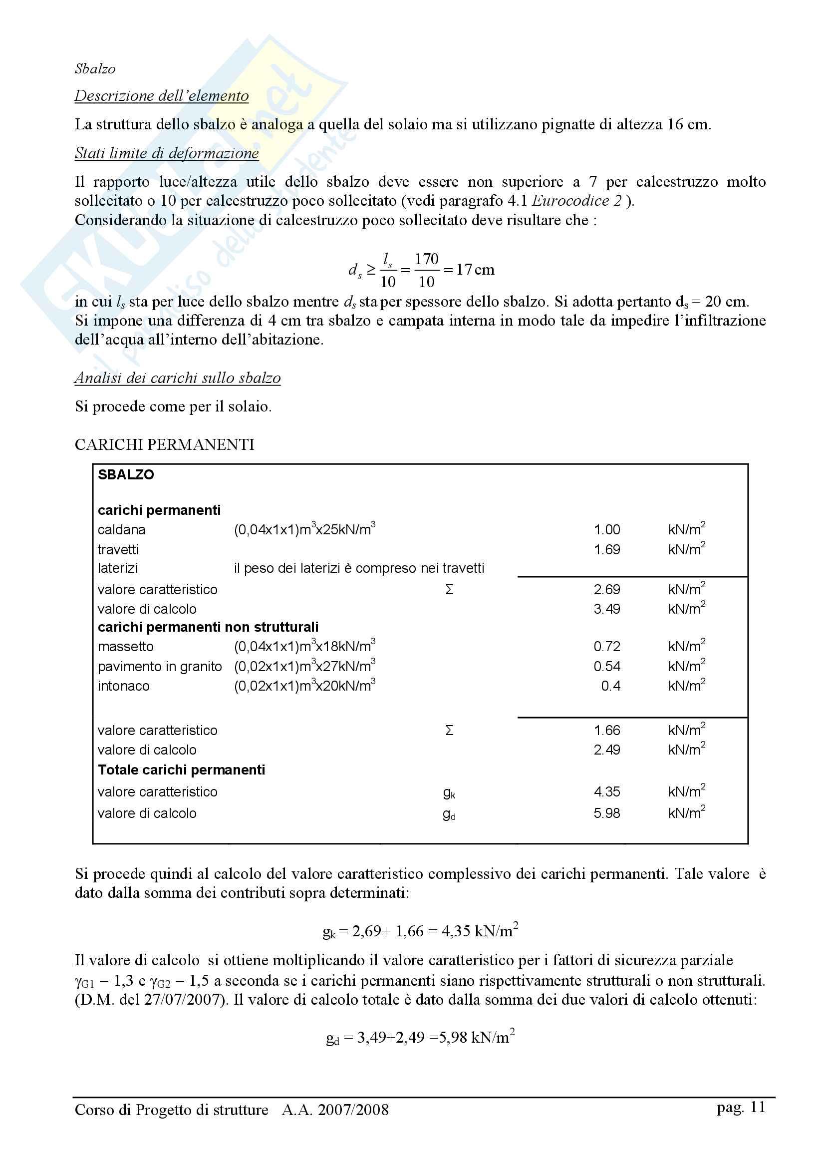 Relazione di Calcolo Strutturale Pag. 11