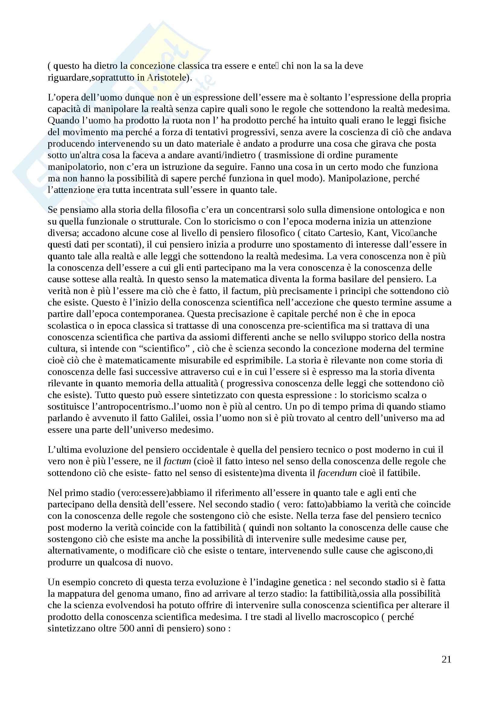 Riassunto esame Teologia Dogmatica, Prof. Falchetto, libro consigliato Introduzione al Cristianesimo,Ratzinger Pag. 21