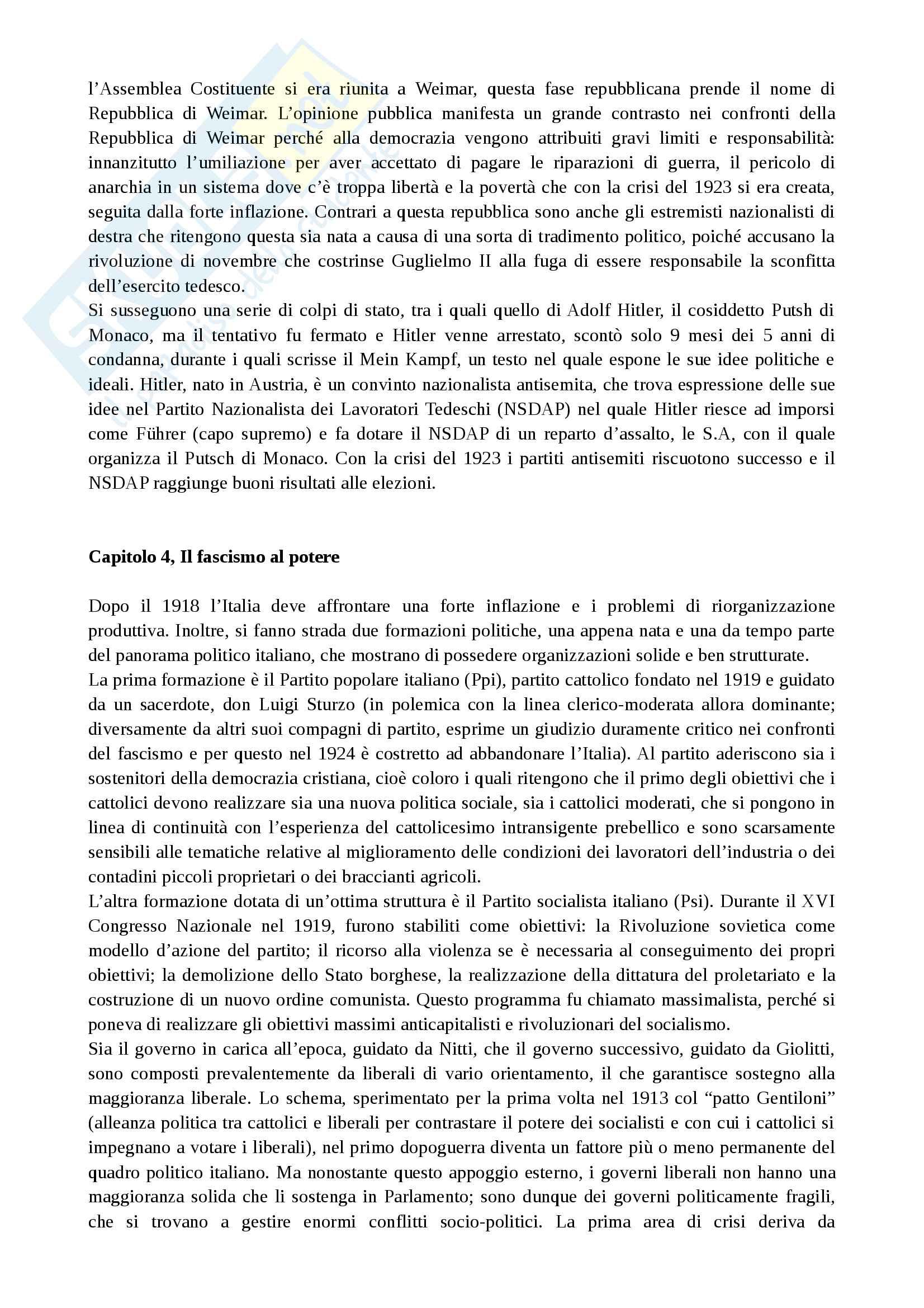 Riassunto esame Storia Contemporanea, prof. Mattera Pag. 11
