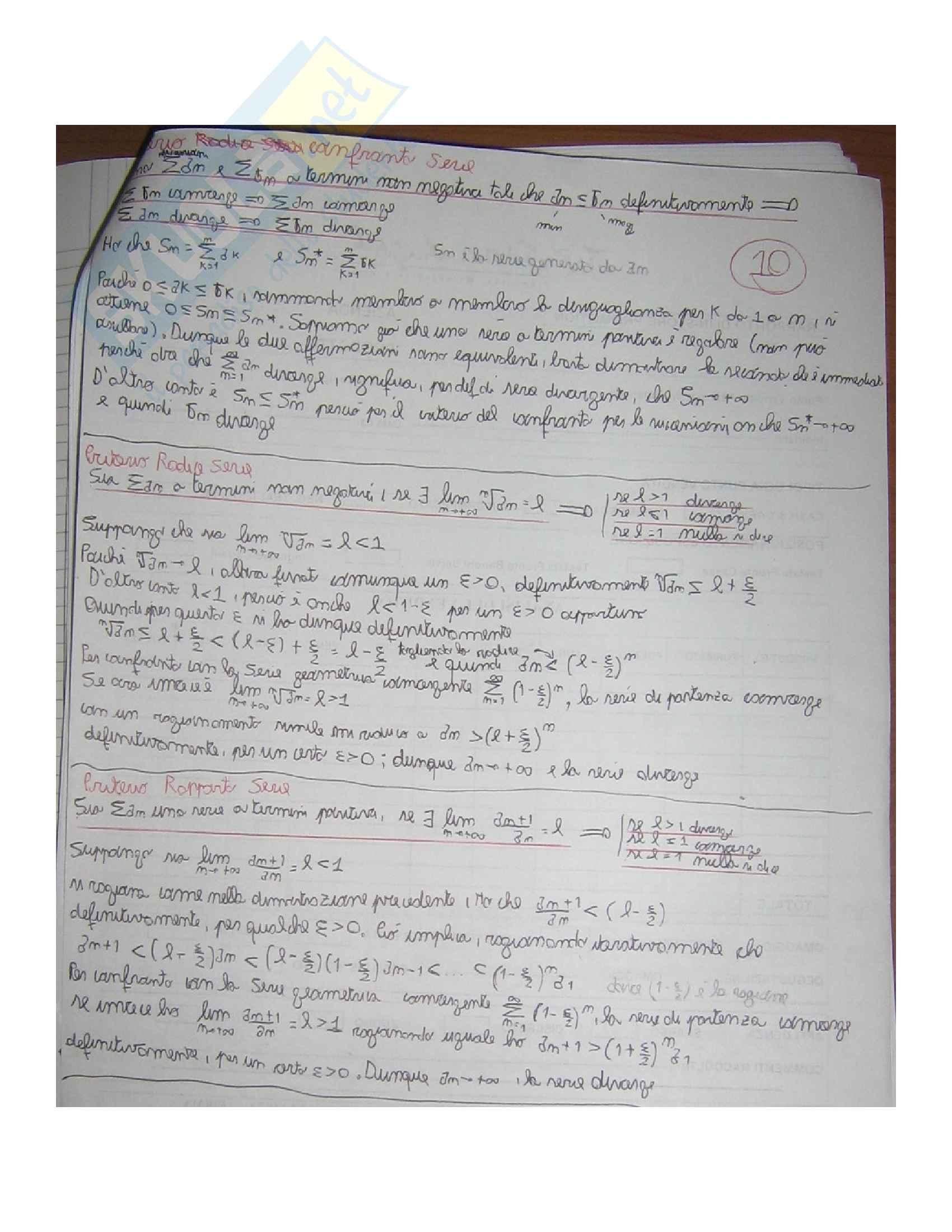 Analisi 1 teoria riassunti  teoremi e dimostrazioni Pag. 111
