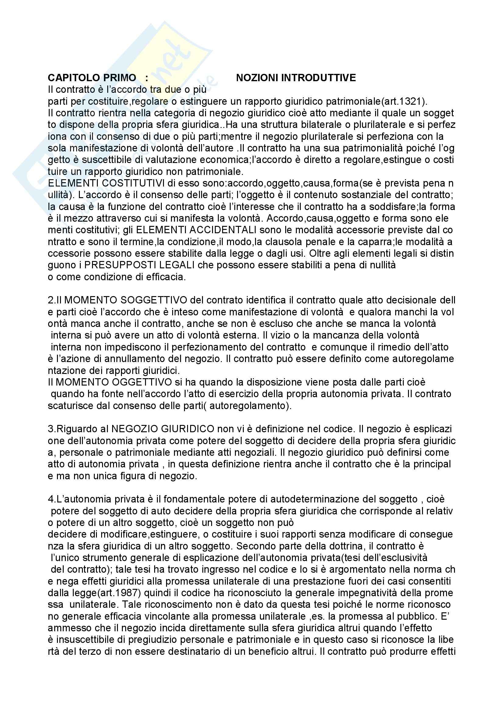 Il contratto, Roppo - Appunti
