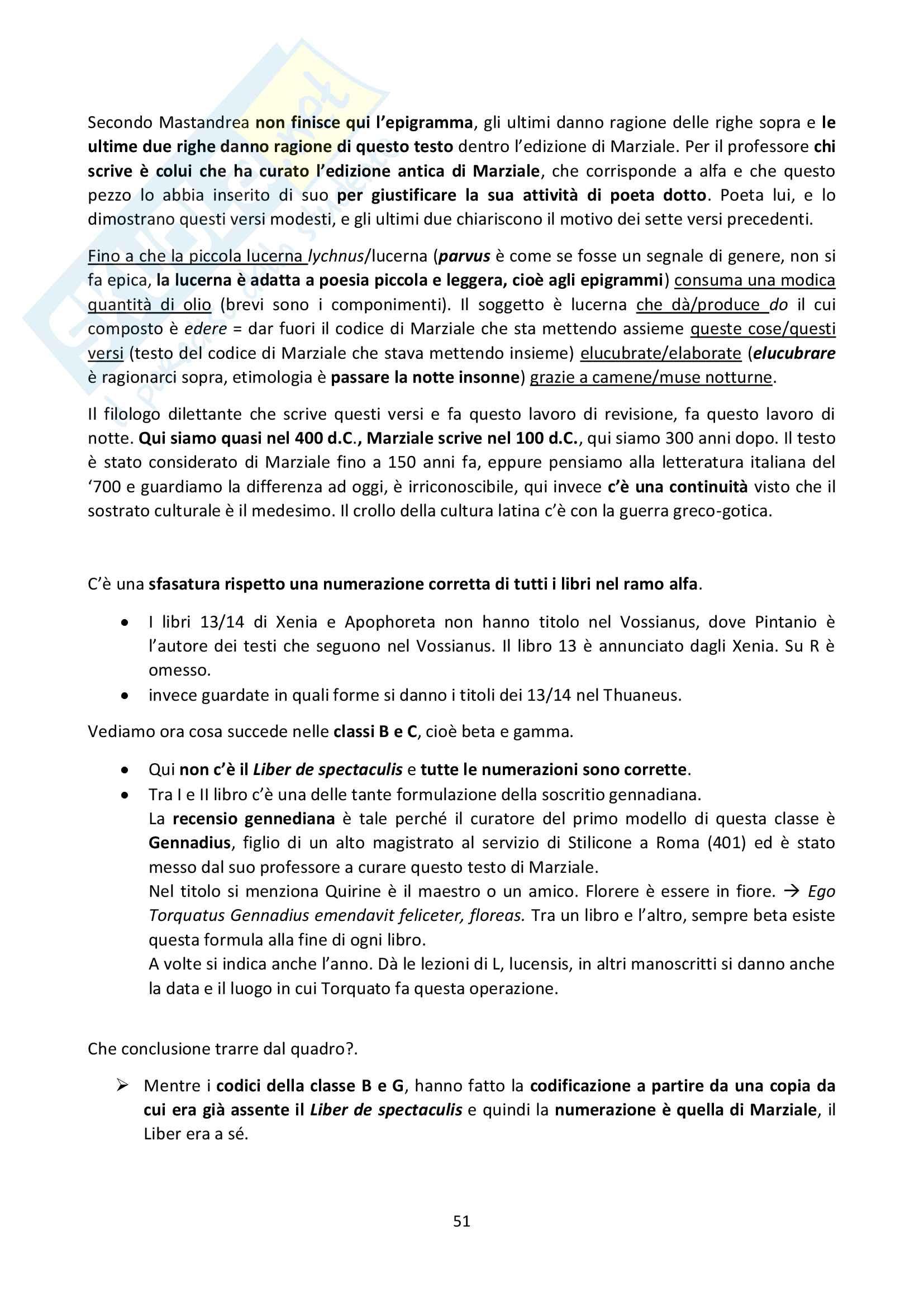 Appunti di Filologia latina sp. (lezioni complete) Pag. 51