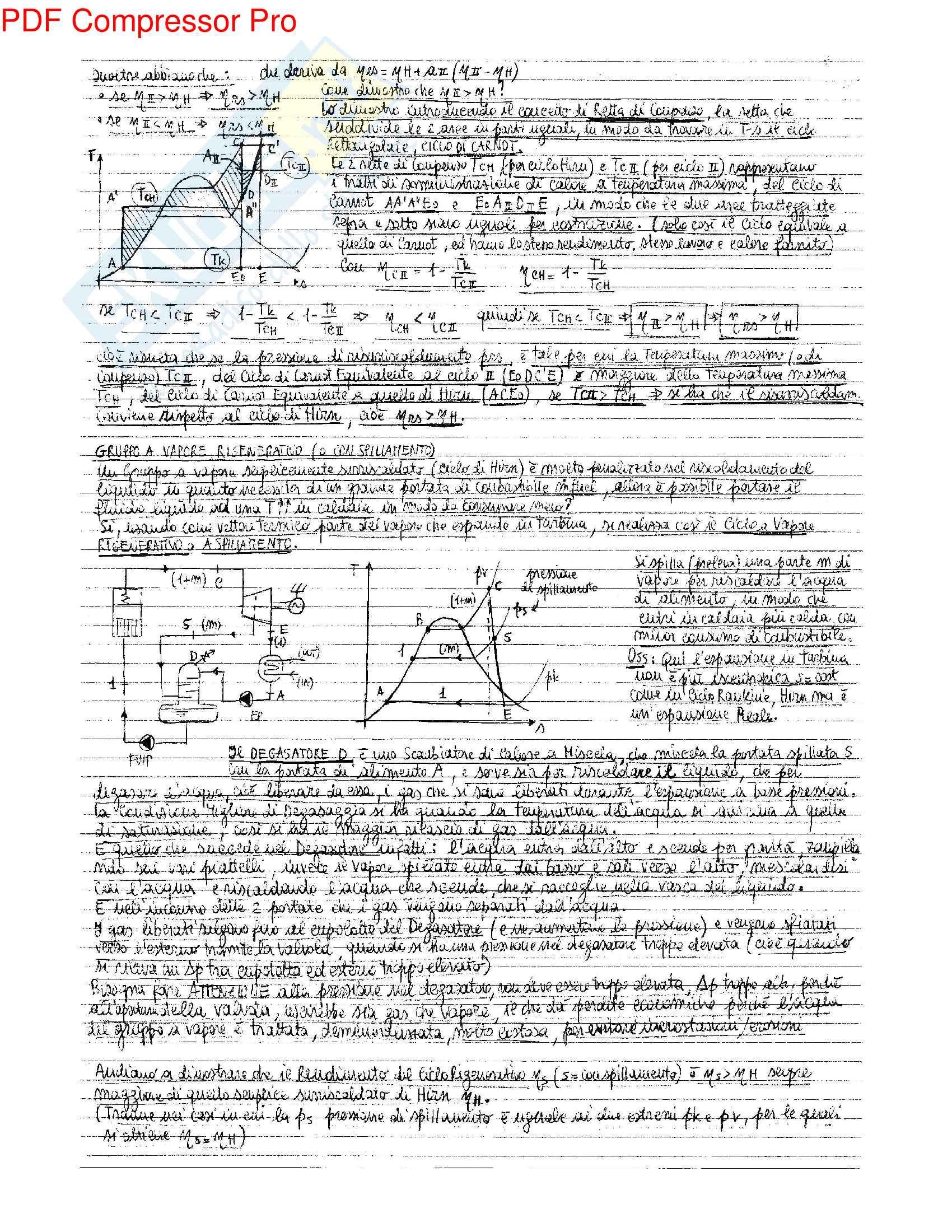 Riassunto esame Sistemi Energetici, prof. Peretto, libri consigliati Sistemi Energetici 1 - Machine a Fluido G. Negri di Montenegro, M. Bianchi, A. Peretto Pag. 31