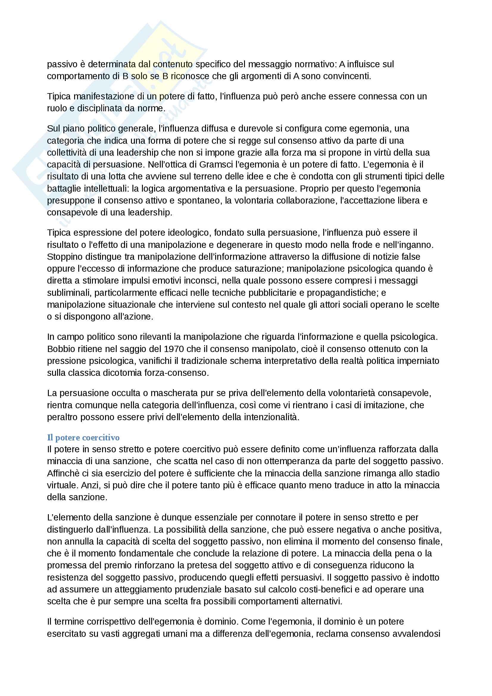 Riassunto esame analisi del linguaggio politico, prof.ssa Rafaella Sau, libro consigliato Categorie della politica, V.Mura Pag. 26