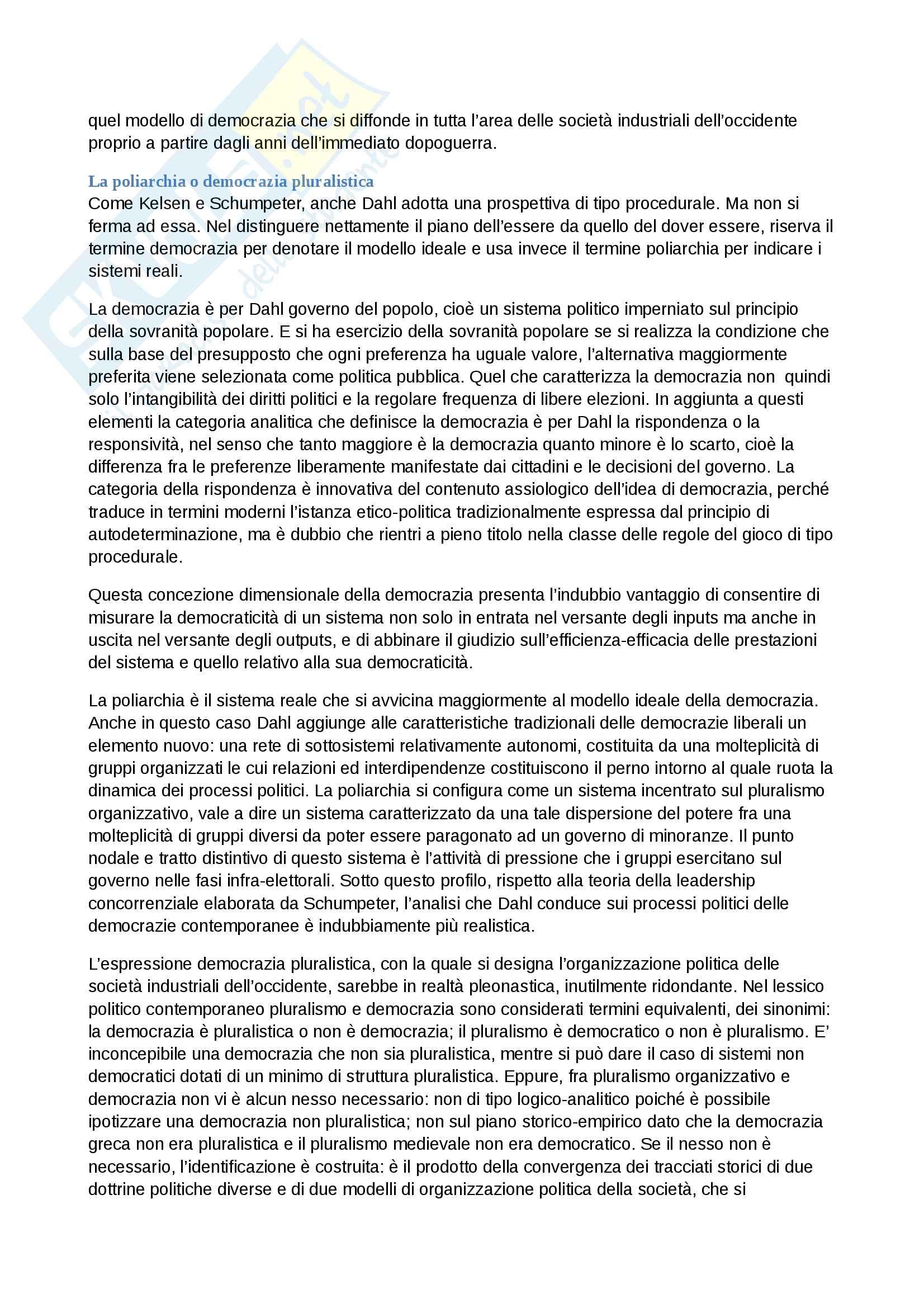 Riassunto esame analisi del linguaggio politico, prof.ssa Rafaella Sau, libro consigliato Categorie della politica, V.Mura Pag. 91