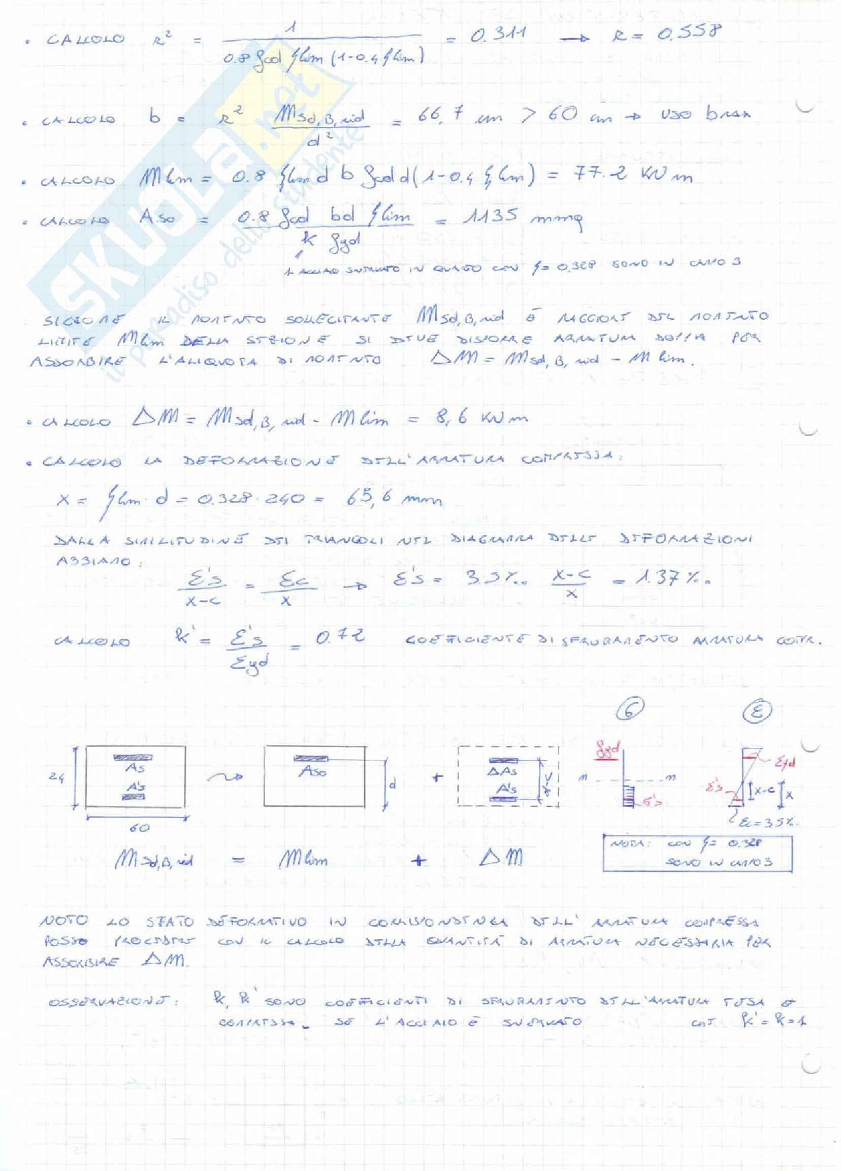 Tecnica delle costruzioni - flessione e taglio ridistribuzione Pag. 6