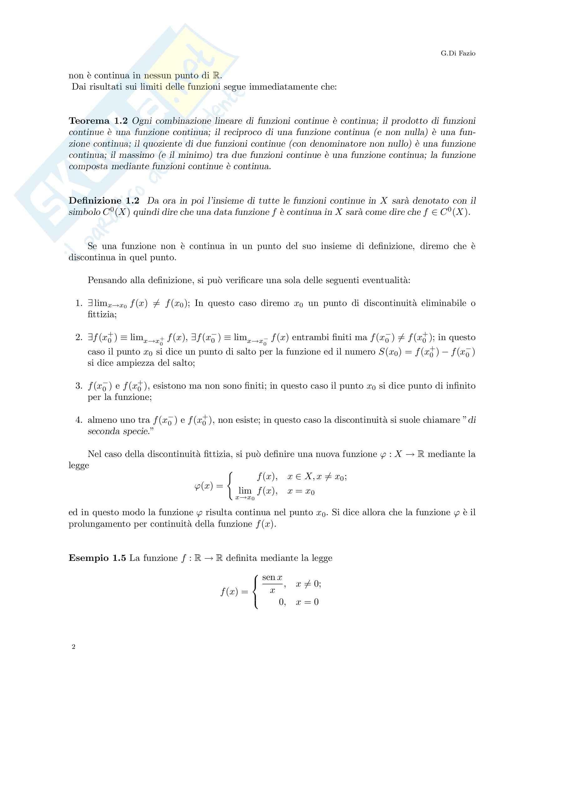 Analisi matematica I - la funzione inversa Pag. 2