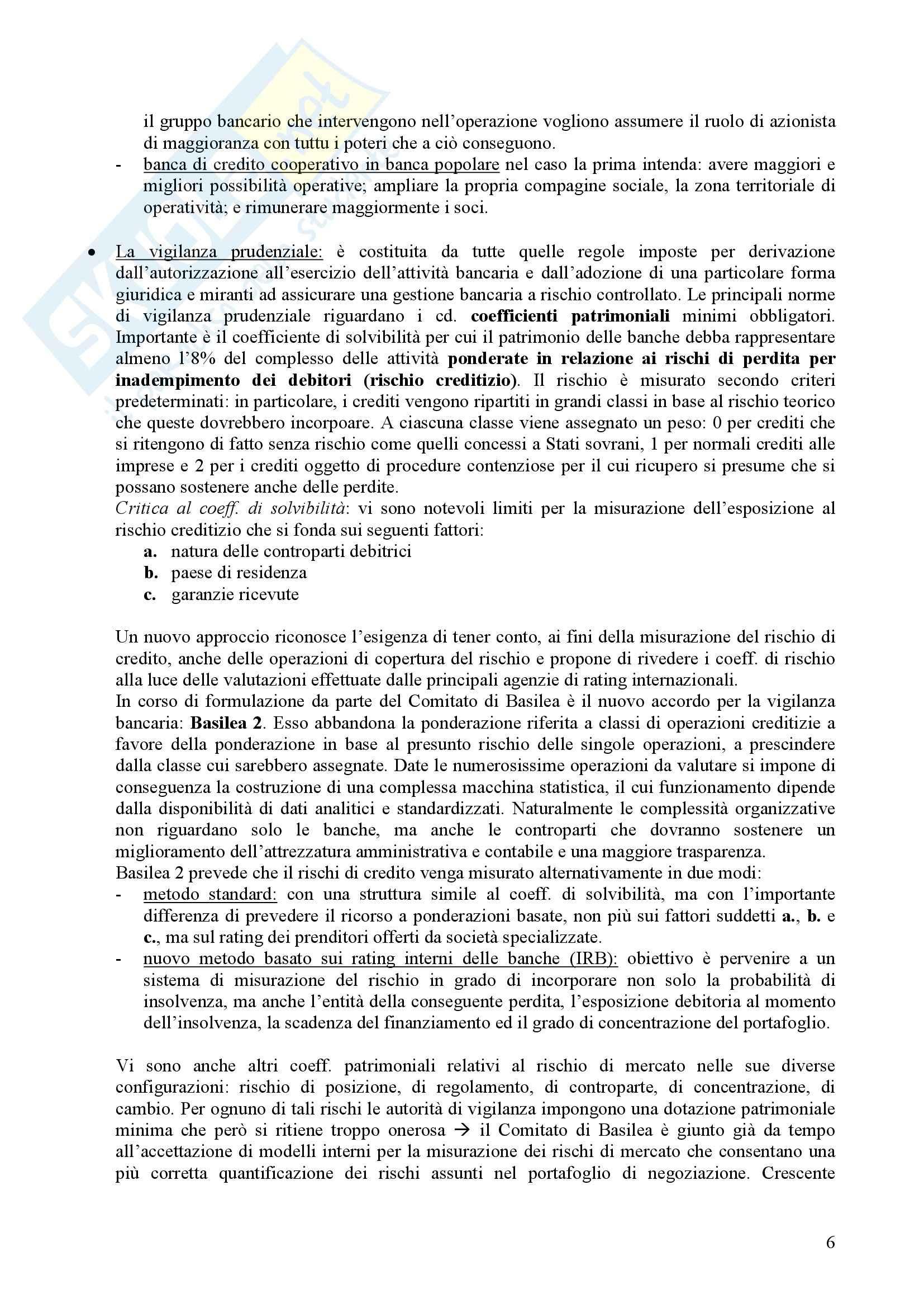 Riassunto esame Tecnica bancaria, prof. Nerici, libro consigliato Economia e gestione della Banca, Ruozi Pag. 6