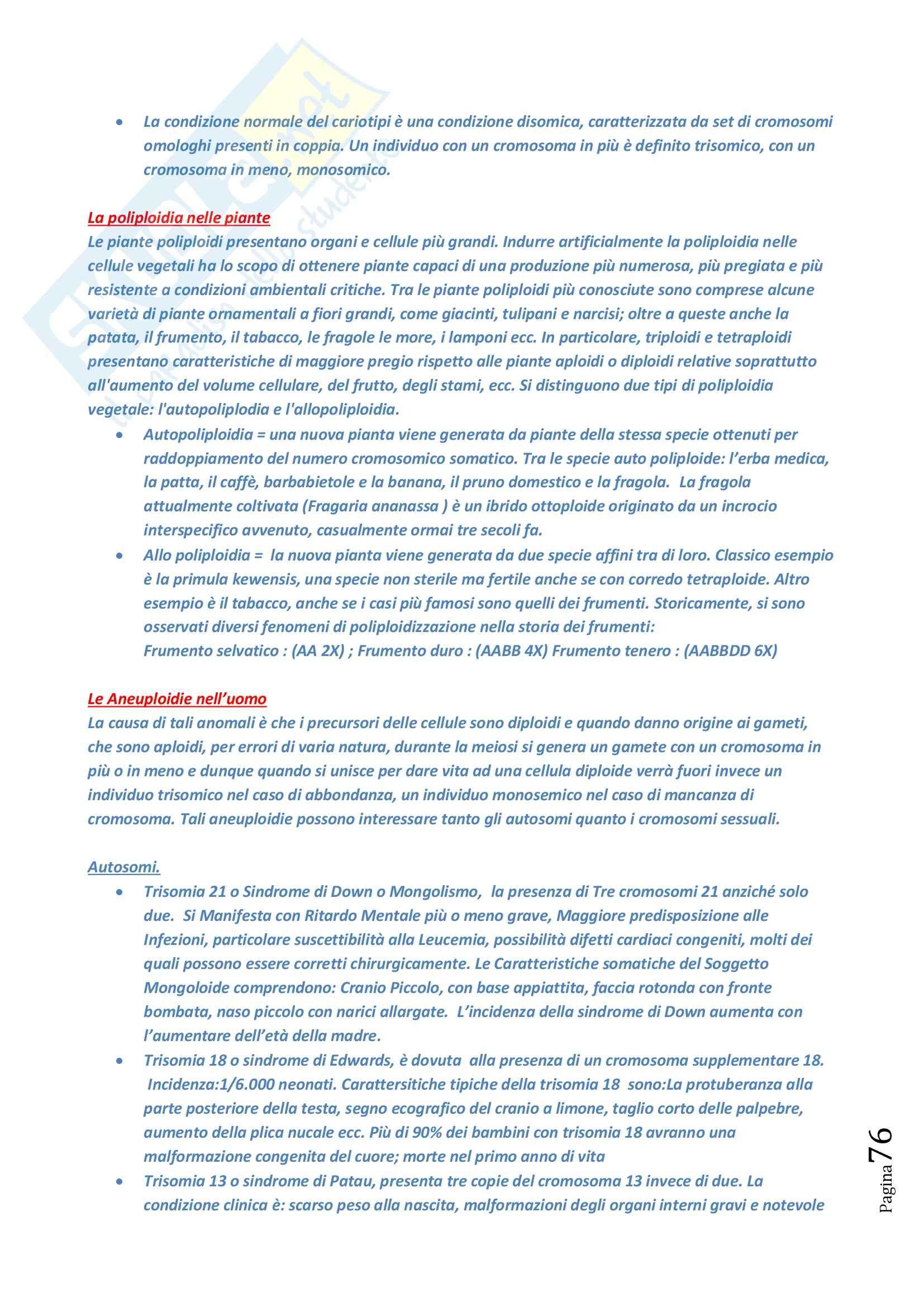 Lezioni, Biologia Animale e Vegetale Pag. 76