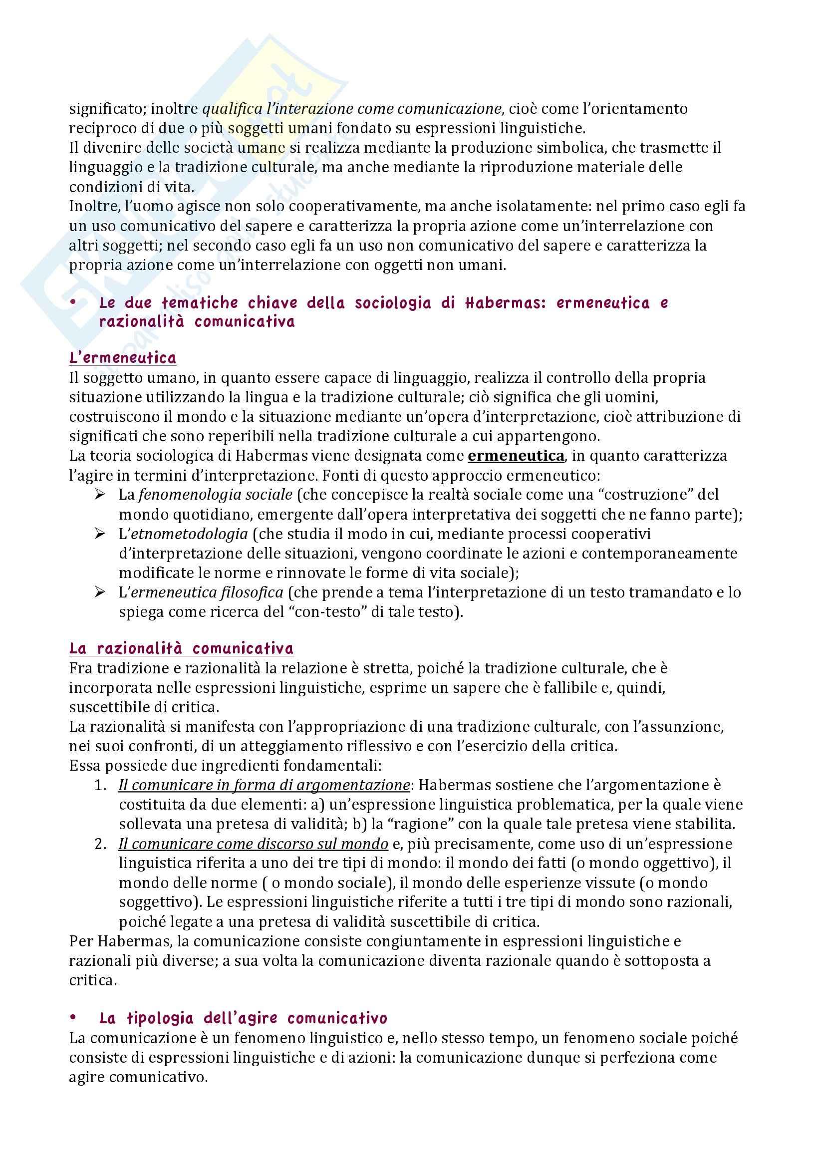 Riassunto esame Sociologia, prof. Lombardi, libro consigliato Sociologia: Teorie e problemi, Cesareo Pag. 11