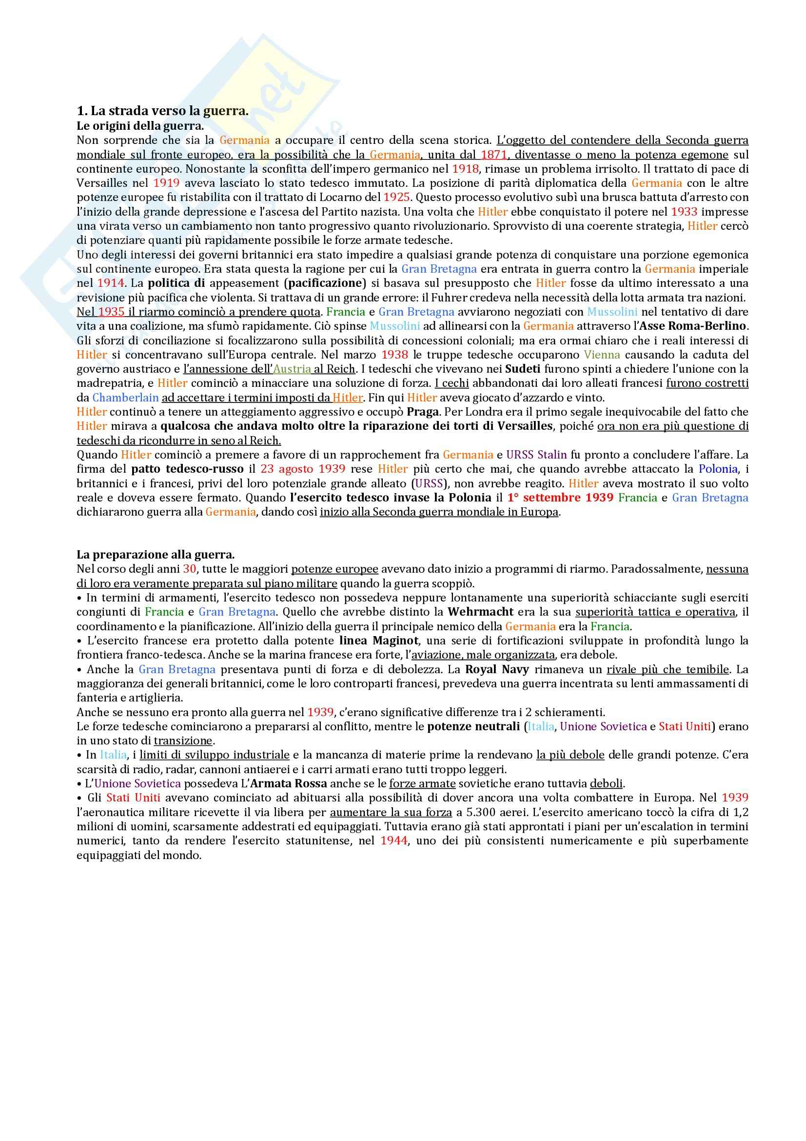appunto A. Malfitano Storia contemporanea