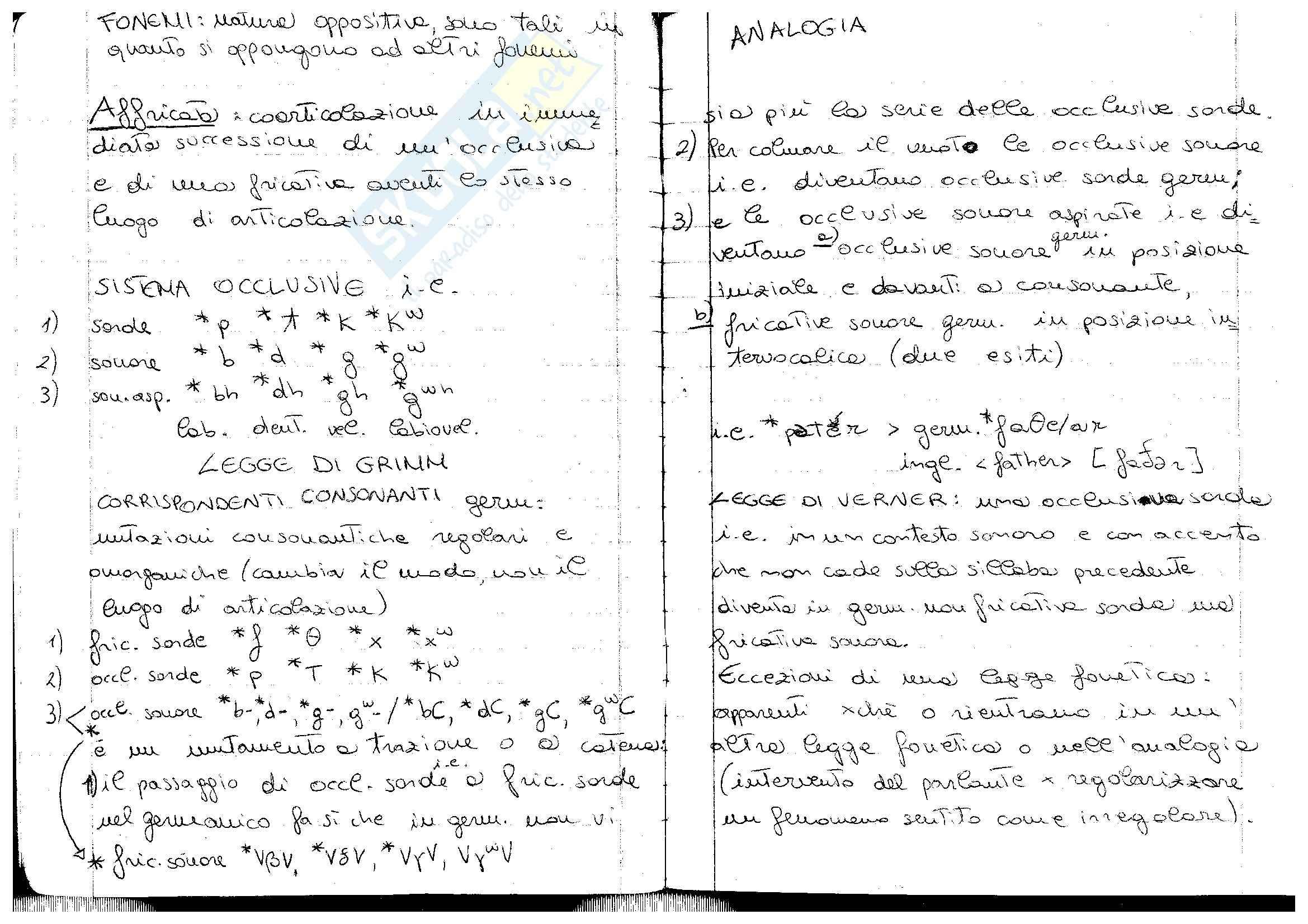 Legge di Grimm e legge di Verner
