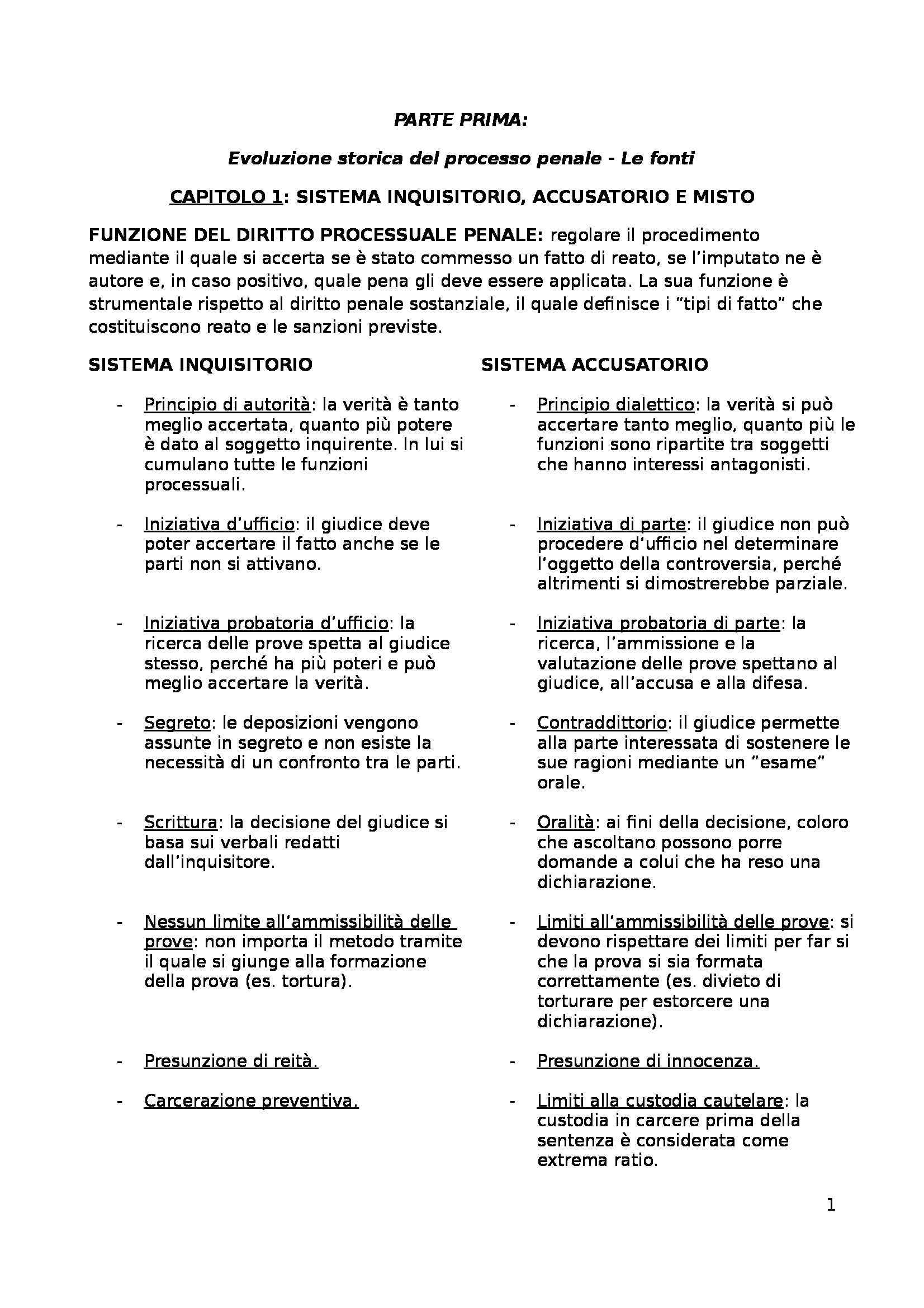 Riassunto esame Diritto Processuale Penale, prof. Coppetta, libro consigliato Procedura Penale, Tonini