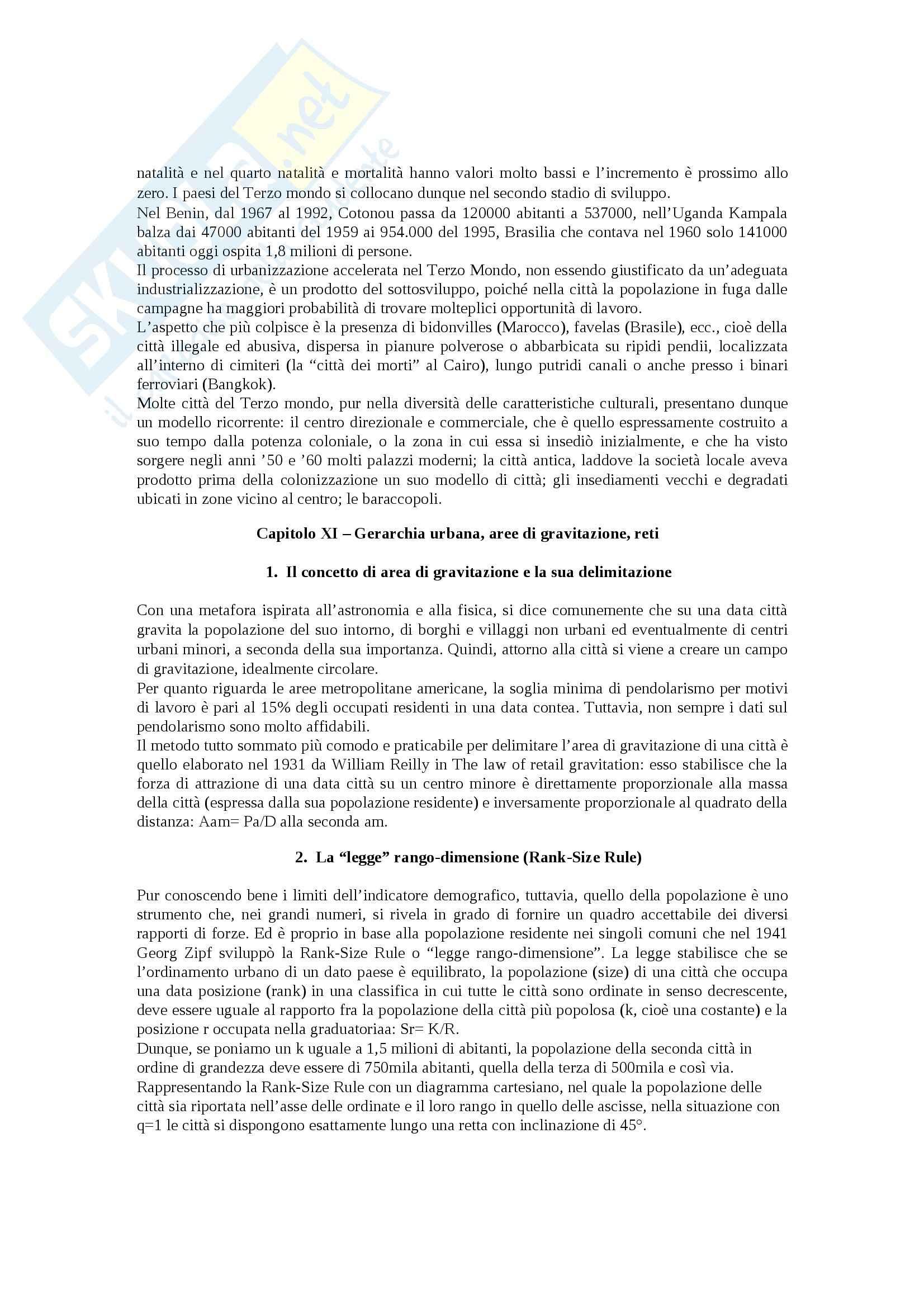 Riassunto esame Geografia, prof. Bartaletti, libro consigliato Città e territorio, analisi spaziale del fenomeno urbano di Bartaletti Pag. 36