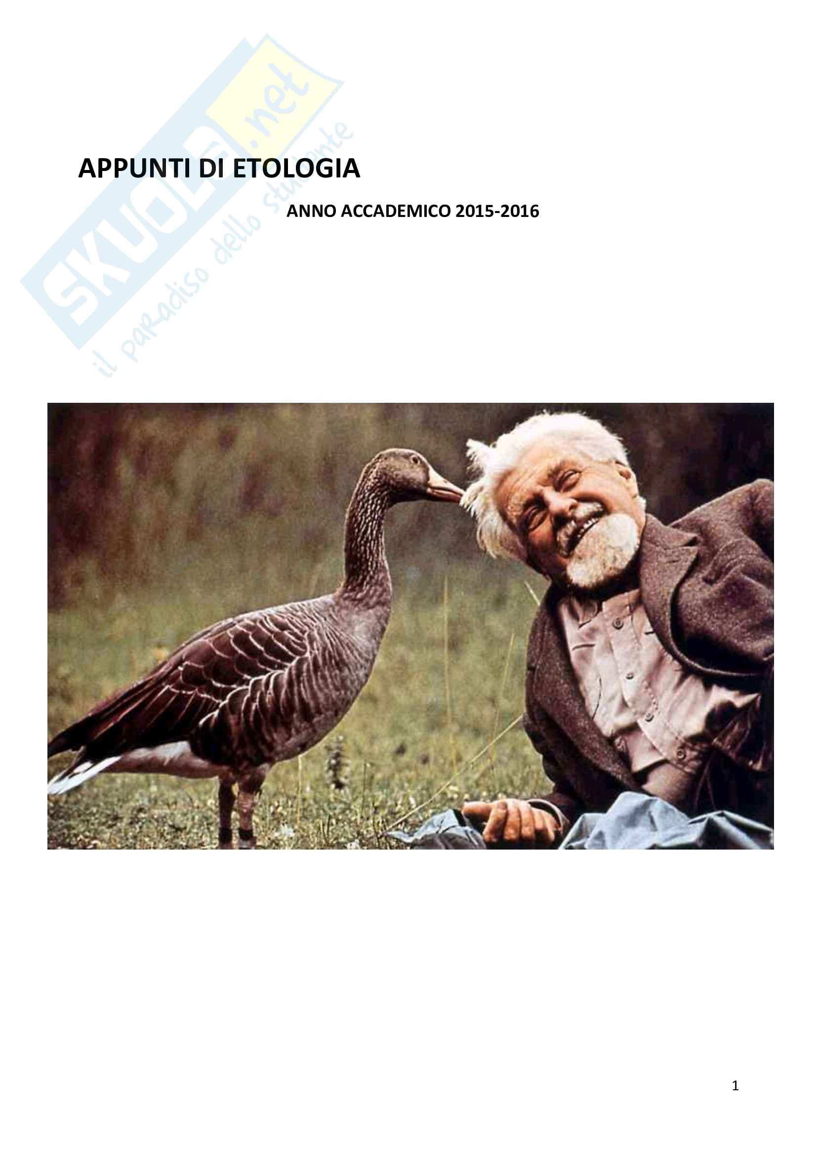 Etologia - studio sul comportamento animale