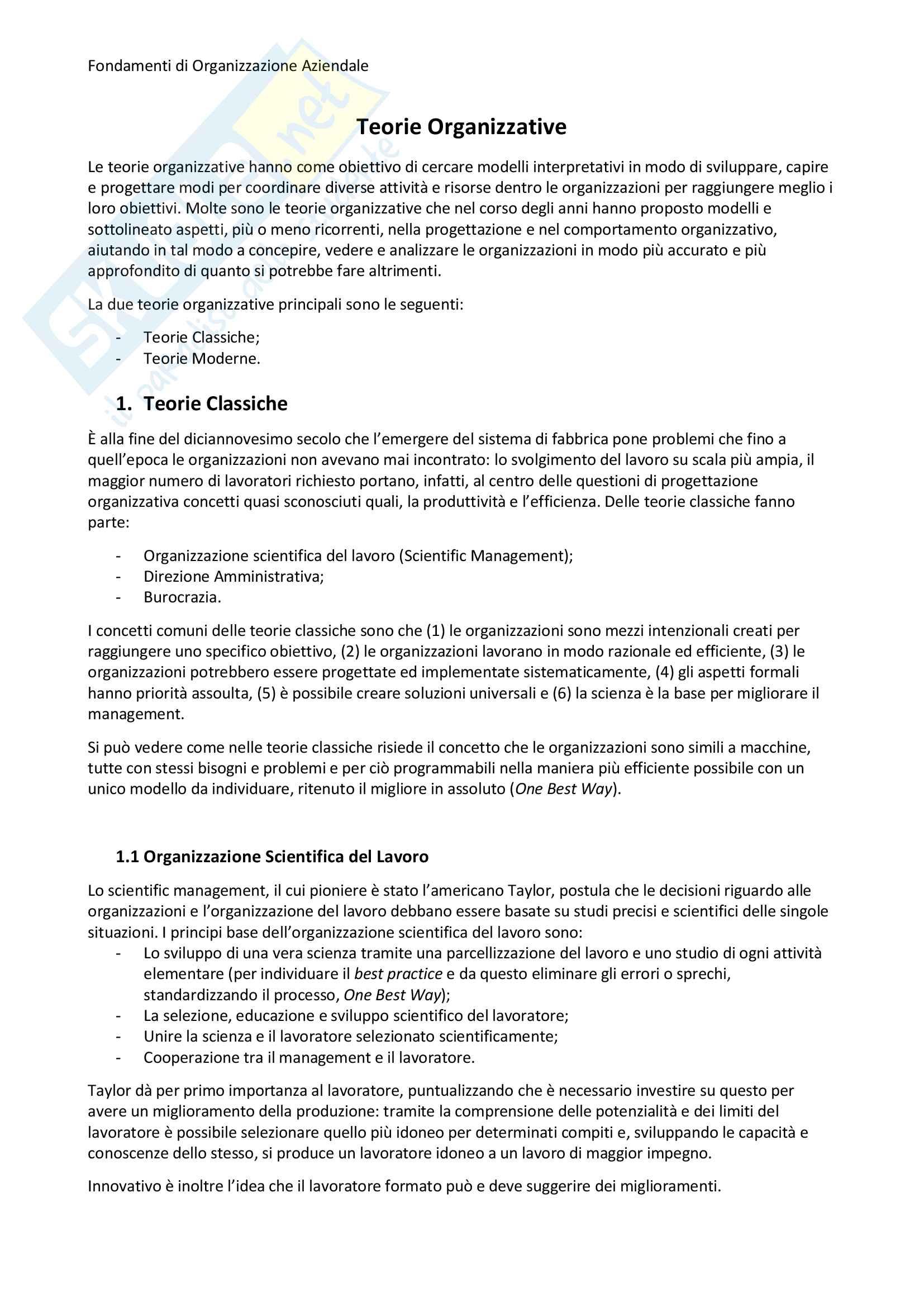 Appunti di gestione aziendale per la parte di Nonino